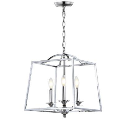 Lantern – Chandeliers – Lighting – The Home Depot Pertaining To Gabriella 3 Light Lantern Chandeliers (View 8 of 20)