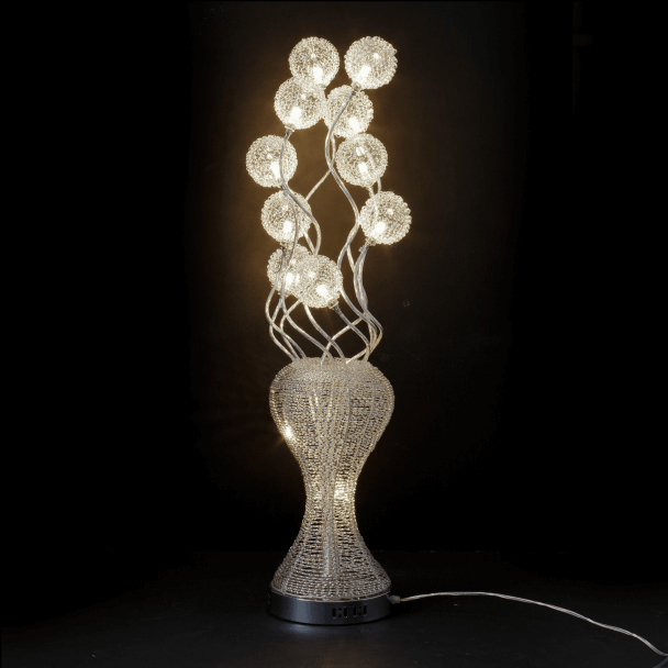 Large Aluminum Led Lamp Flower Vase – Clea Inside Clea 3 Light Crystal Chandeliers (Image 16 of 20)