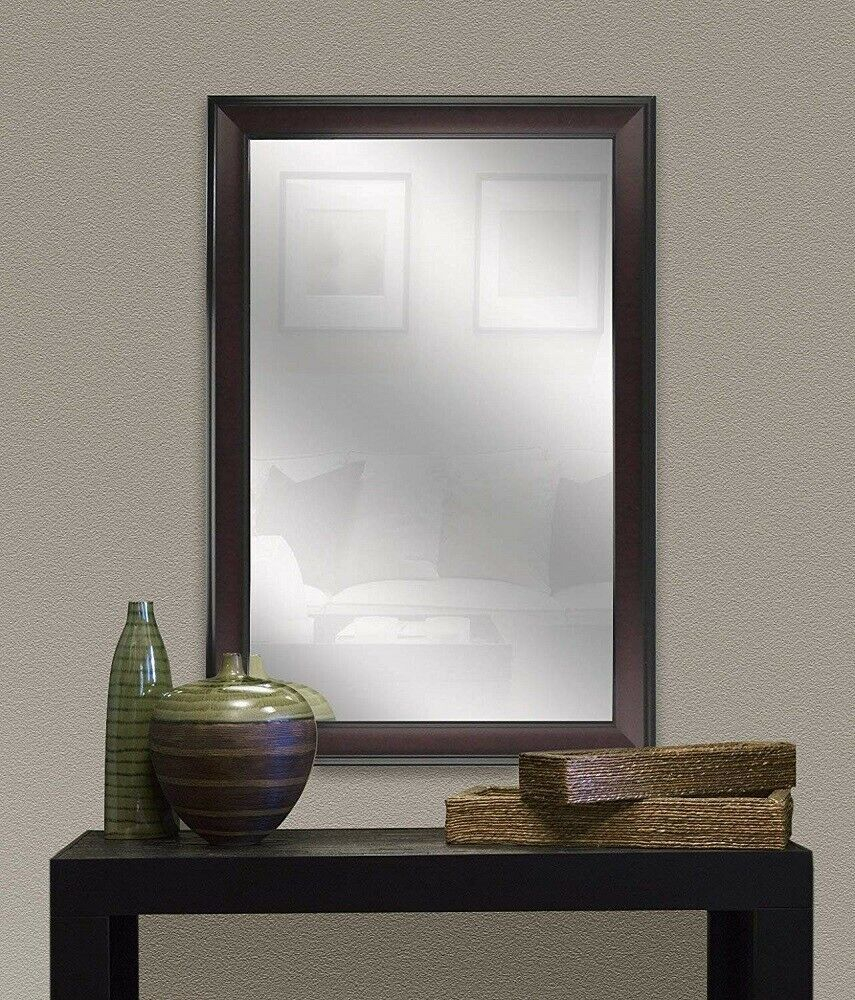 Large Bathroom Wall Mirror Mahogany Framed Bedroom Living Within Traditional Accent Mirrors (View 15 of 20)