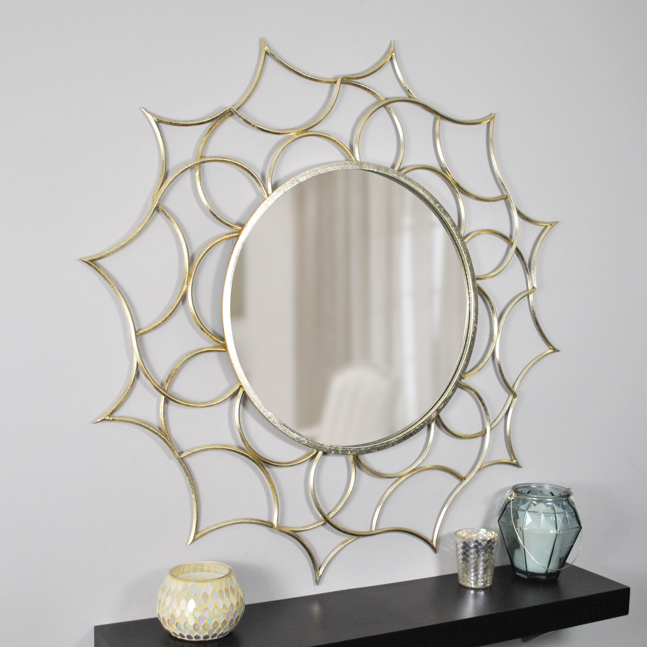 Large & Oversized Sunburst Mirrors You'll Love In 2019 | Wayfair For Diamondville Modern & Contemporary Distressed Accent Mirrors (Image 11 of 20)