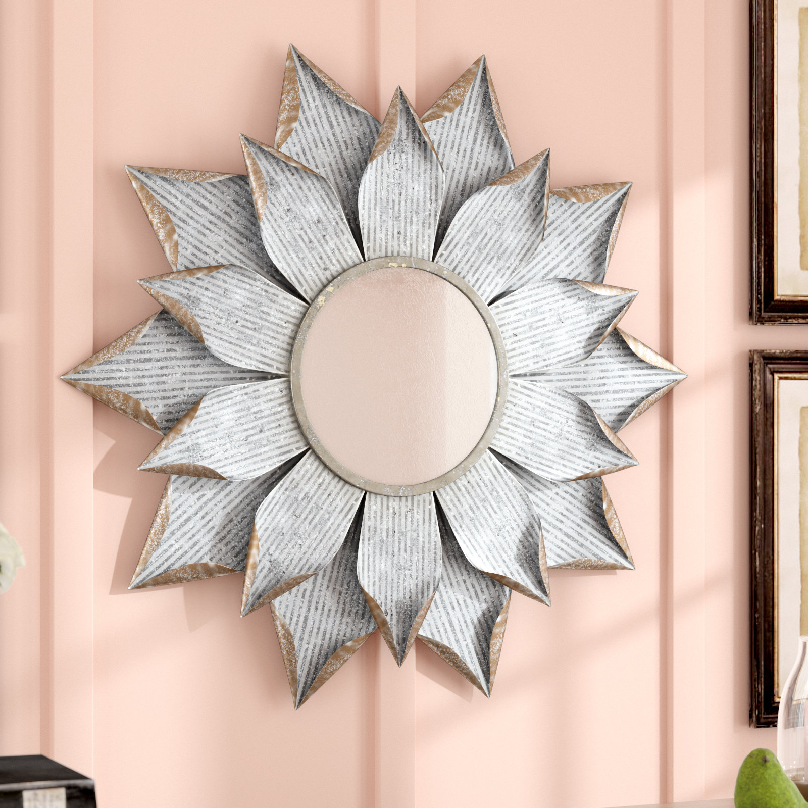 Large & Oversized Sunburst Mirrors You'll Love In 2019 | Wayfair Throughout Bruckdale Decorative Flower Accent Mirrors (View 2 of 20)