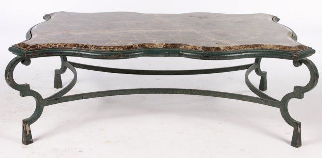 Large Wrought Iron Coffee Table Marble Top | Iron In 2019 Inside Gracewood Hollow Salinger Prentice Cocktail Tables (View 25 of 25)