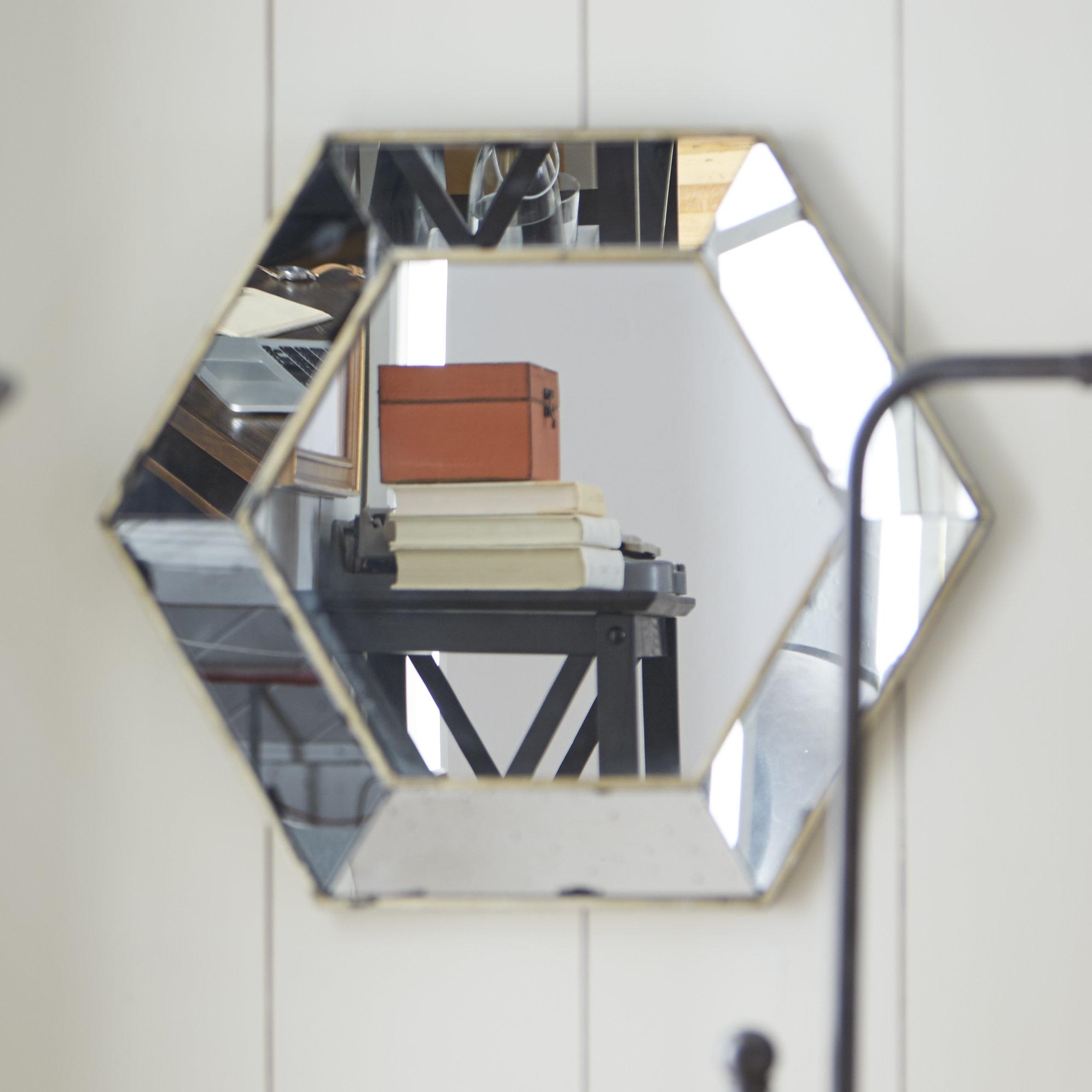 Lark Manor Gia Hexagon Accent Mirror & Reviews | Wayfair With Gia Hexagon Accent Mirrors (Image 16 of 20)