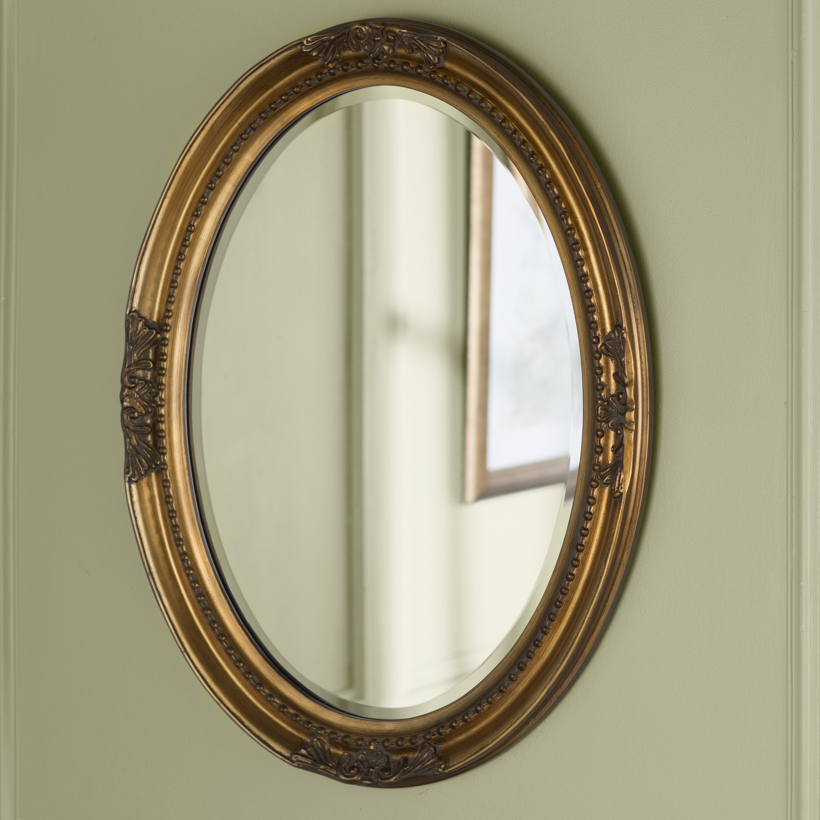 Lark Manor Oval Wood Wall Mirror & Reviews | Wayfair Within Pfister Oval Wood Wall Mirrors (Image 8 of 20)