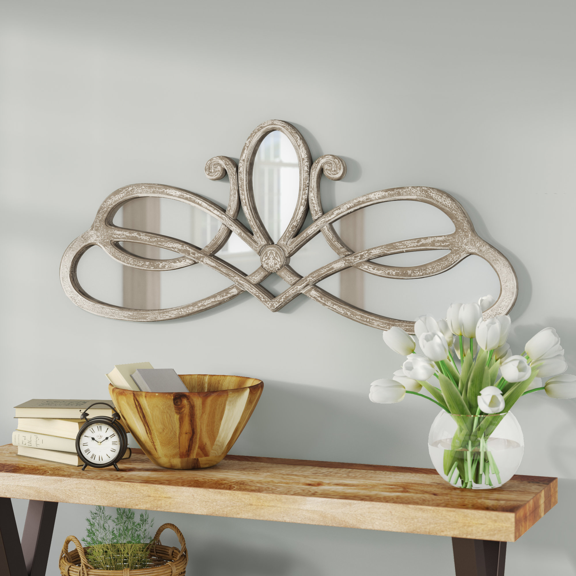 Lark Manor Polen Traditional Wall Mirror With Polen Traditional Wall Mirrors (View 3 of 20)