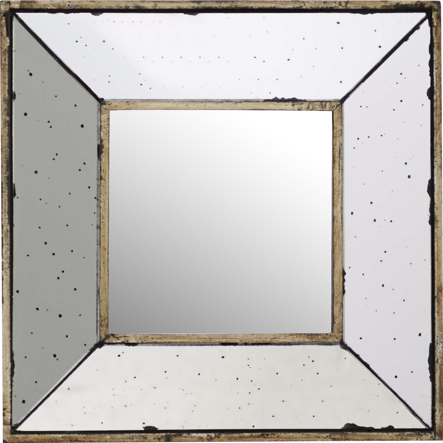 Lark Manor Traditional Square Glass Wall Mirror With Regard To Traditional Square Glass Wall Mirrors (Image 8 of 20)