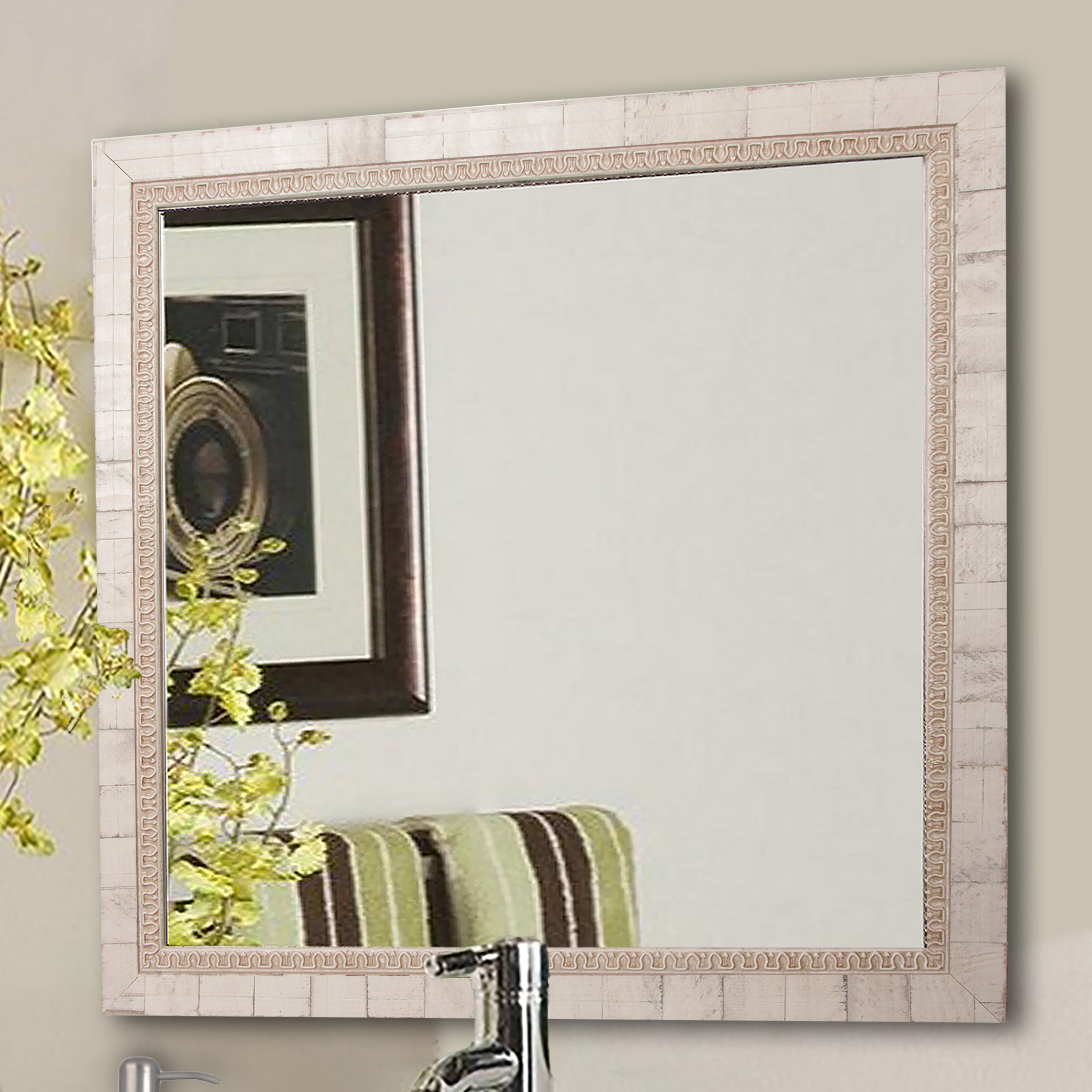 Lathrop Tuscan Wall Mirror In Epinal Shabby Elegance Wall Mirrors (View 5 of 20)