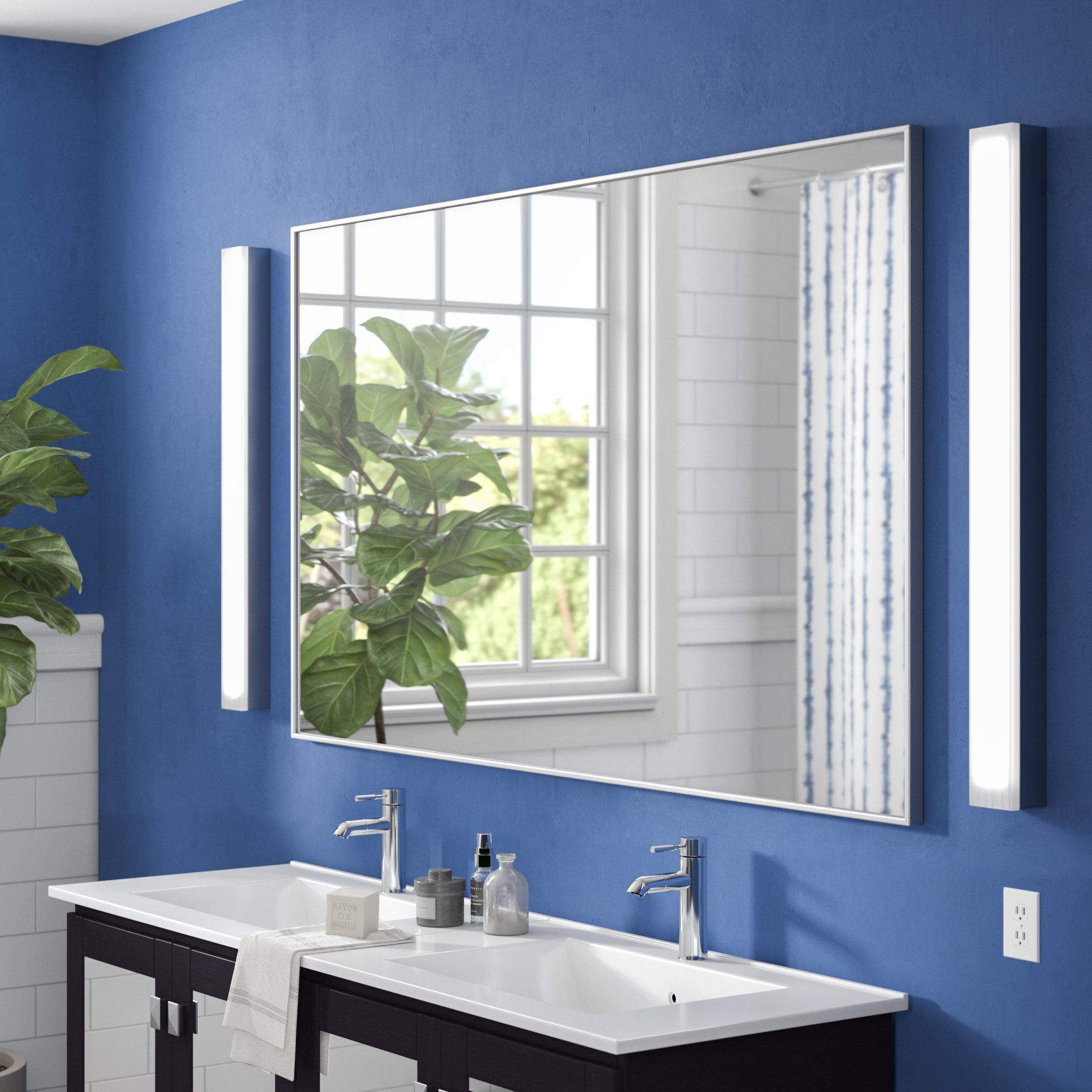 Latitude Run Tinney Modern & Contemporary Bathroom/ Vanity Mirror For Lidya Frameless Beveled Wall Mirrors (View 20 of 20)