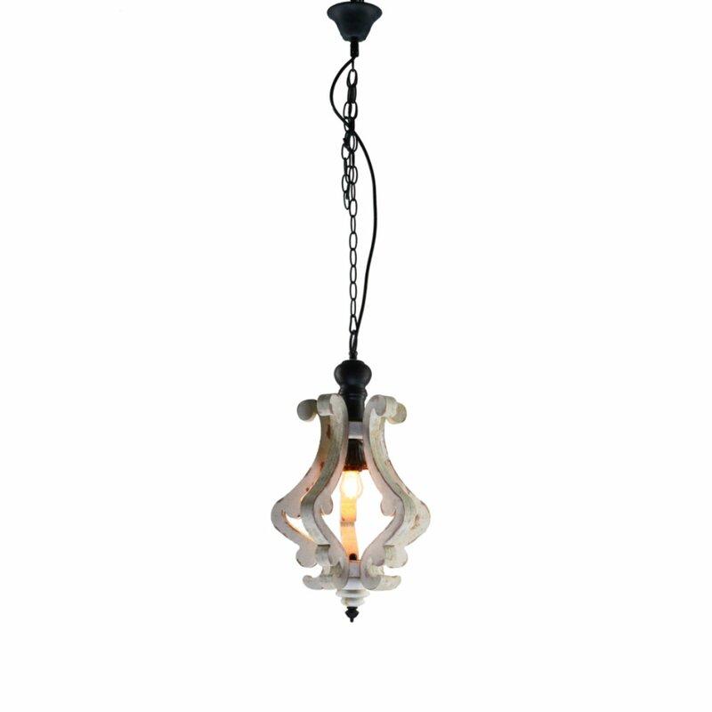 Latonia Wooden 1 Light Single Geometric Pendant For Warner Robins 3 Light Lantern Pendants (Image 13 of 25)