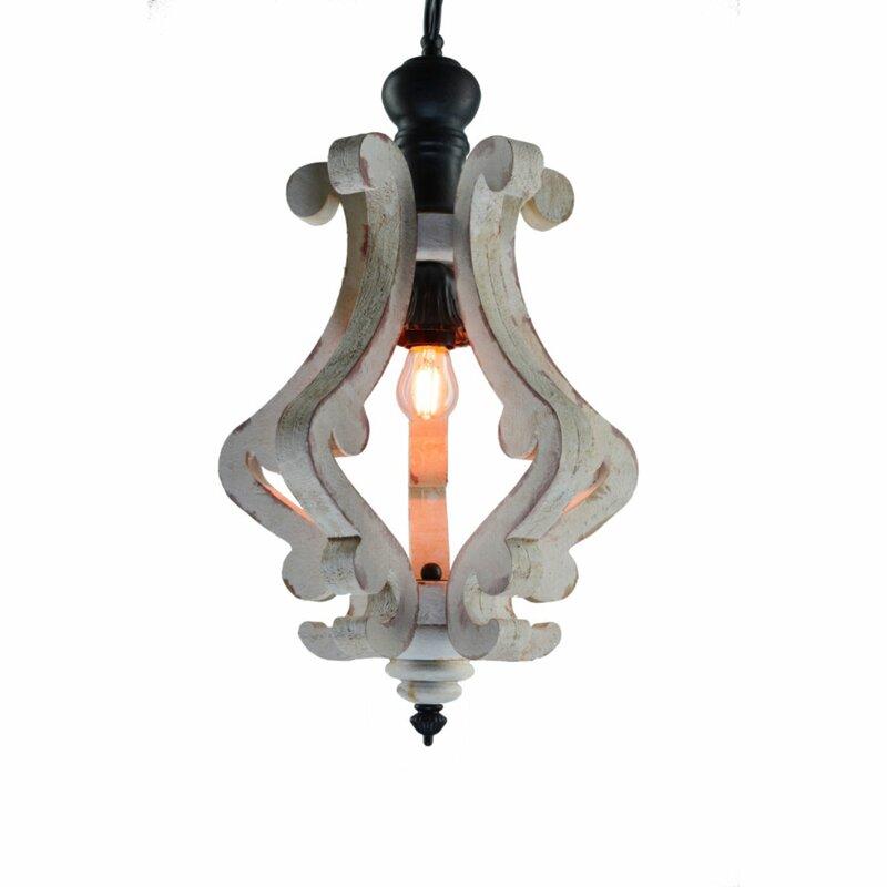 Latonia Wooden 1 Light Single Geometric Pendant Inside Warner Robins 3 Light Lantern Pendants (Image 14 of 25)
