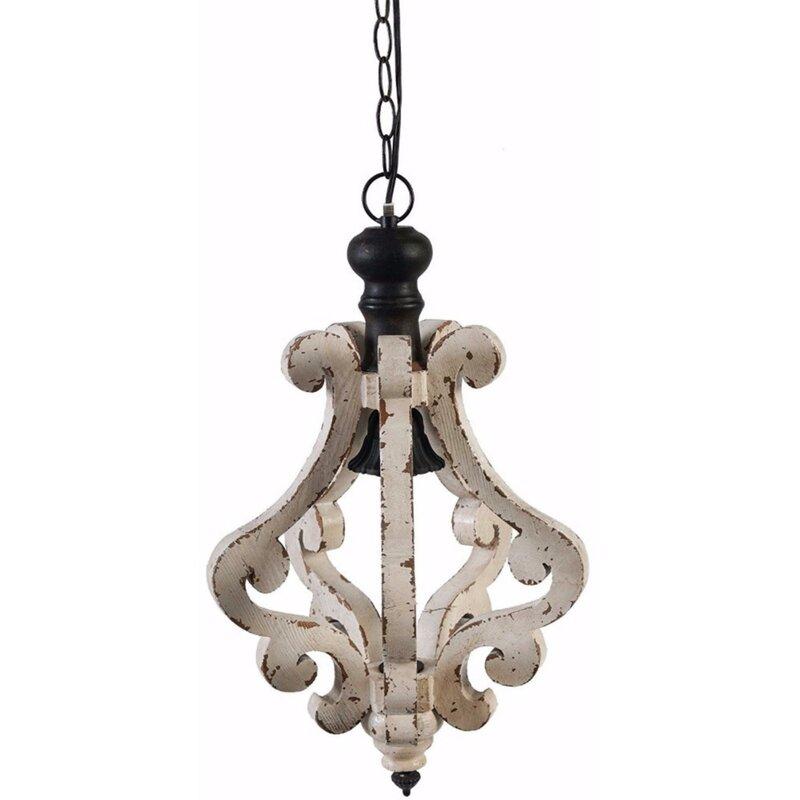 Latonia Wooden 1 Light Single Geometric Pendant With Regard To Warner Robins 3 Light Lantern Pendants (Image 15 of 25)