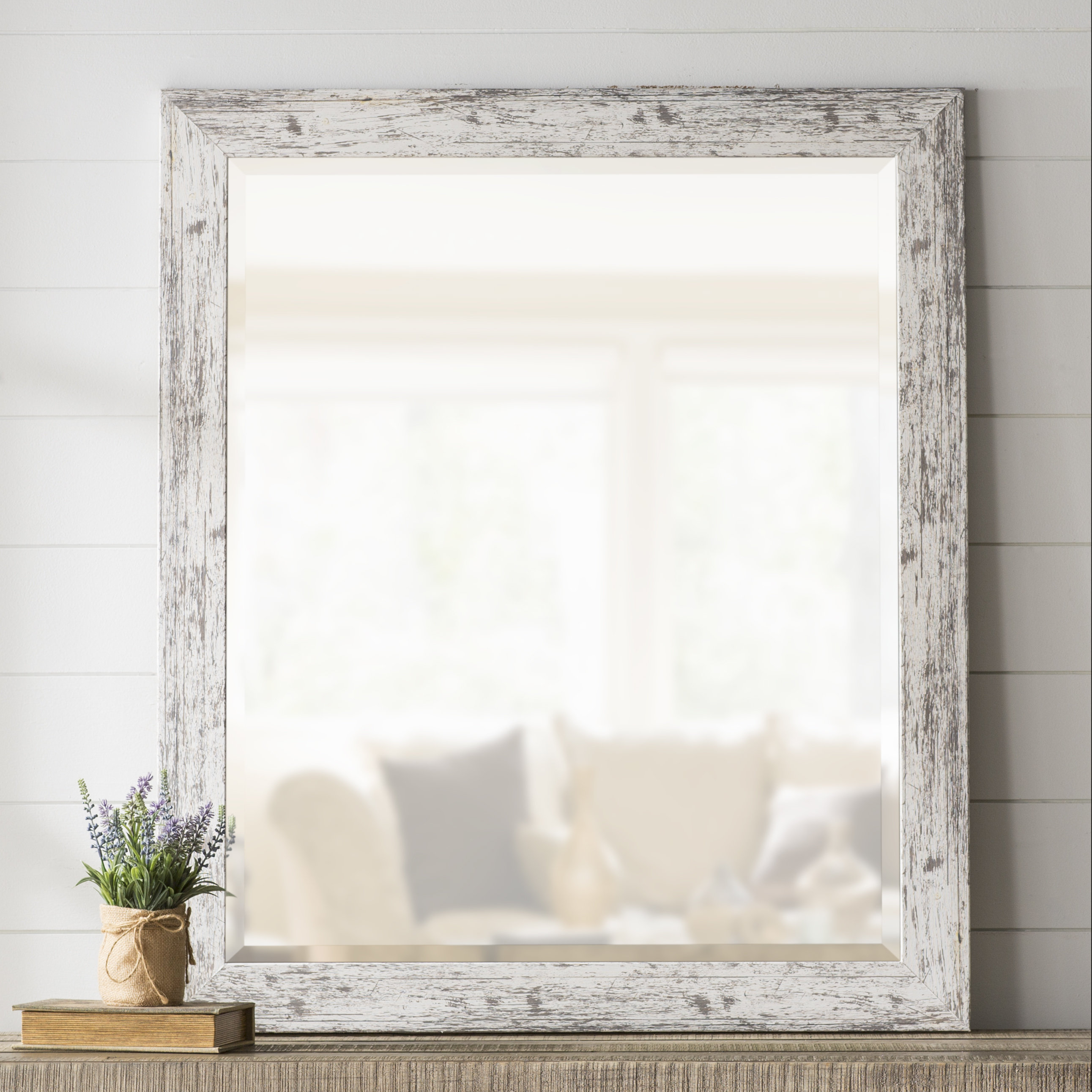 Laurel Foundry Modern Farmhouse Lagrange Weathered Farmhouse Accent Wall Mirror Inside Kist Farmhouse Wall Mirrors (View 5 of 20)