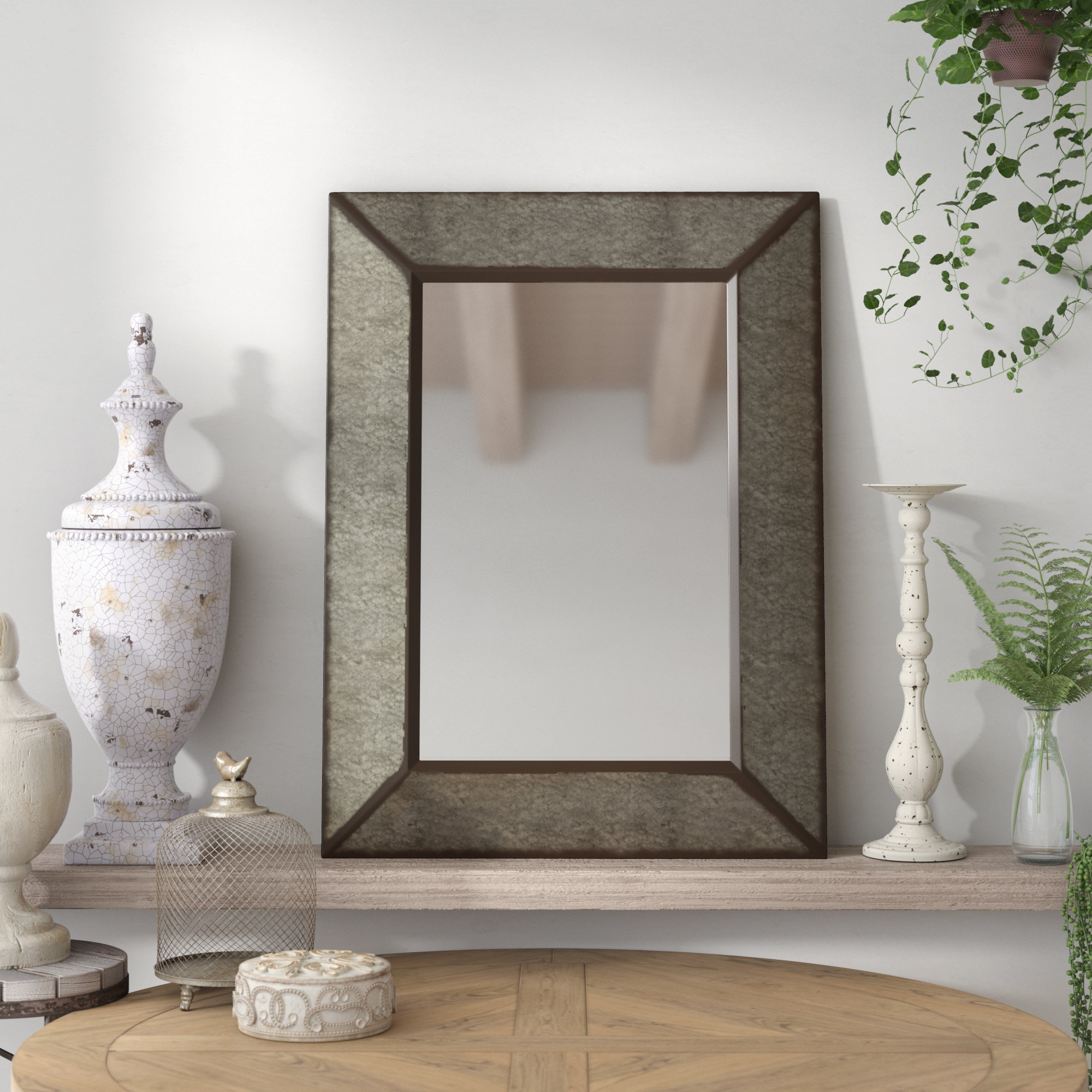 Laurel Foundry Modern Farmhouse Rectangle Antique Galvanized With Laurel Foundry Modern & Contemporary Accent Mirrors (View 12 of 20)