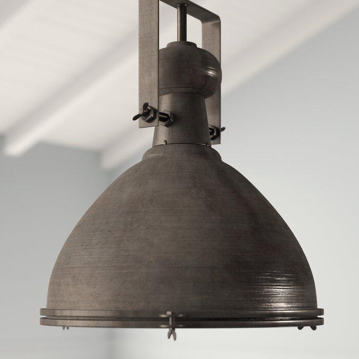 Lavern 1 Light Single Dome Pendant Inside Grullon Scroll 1 Light Single Bell Pendants (View 15 of 25)