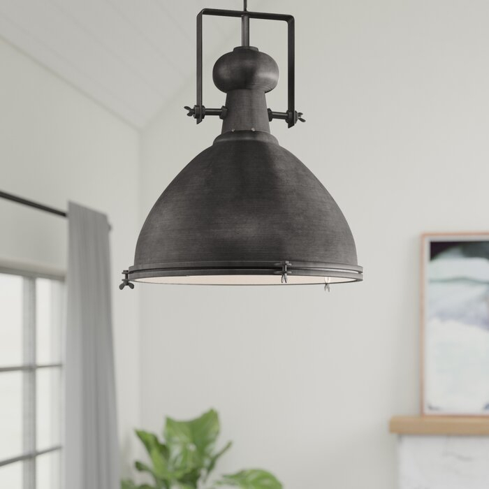 Lavern 1 Light Single Dome Pendant With Grullon Scroll 1 Light Single Bell Pendants (View 9 of 25)