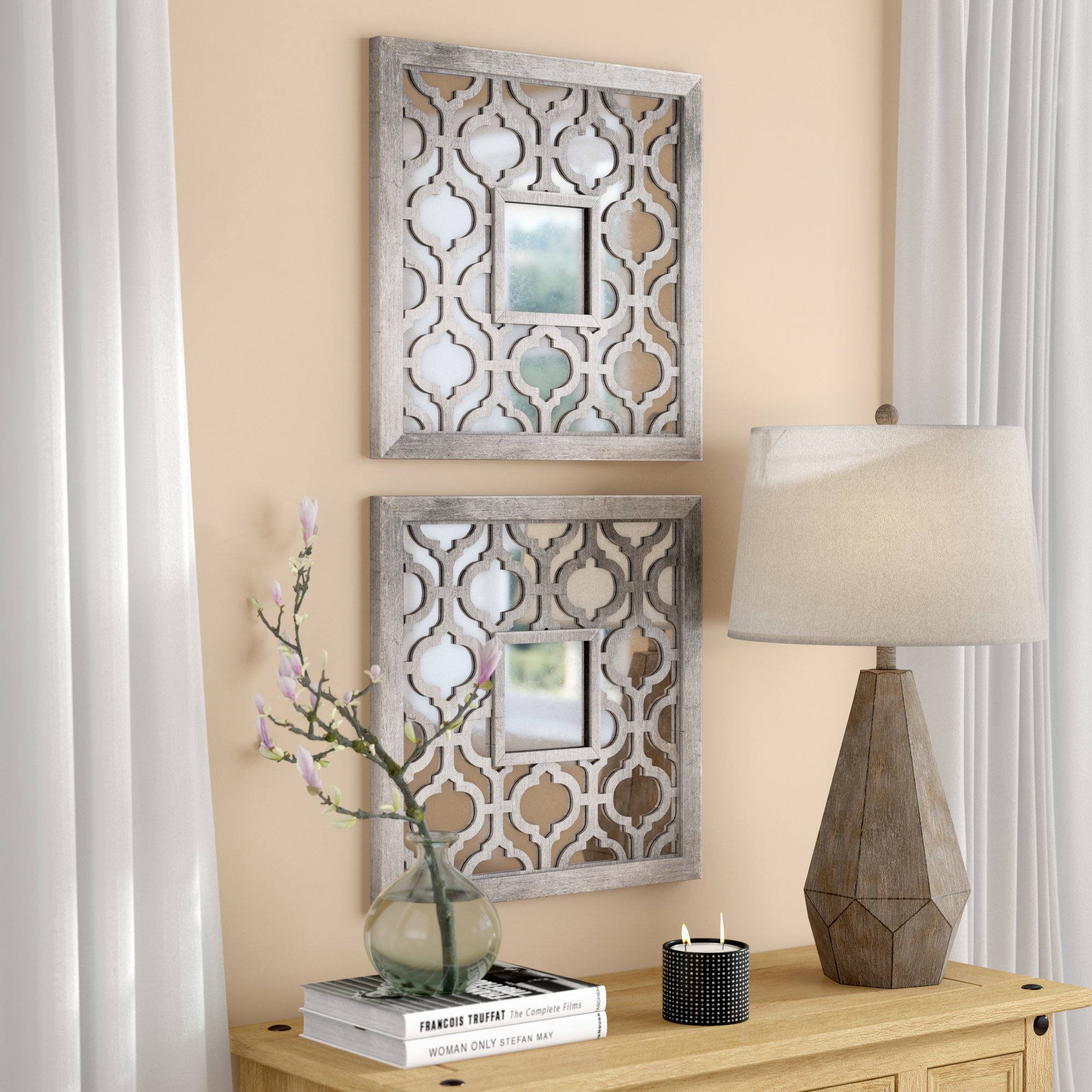 Leaf Mirror | Wayfair Within Carstens Sunburst Leaves Wall Mirrors (Image 7 of 20)