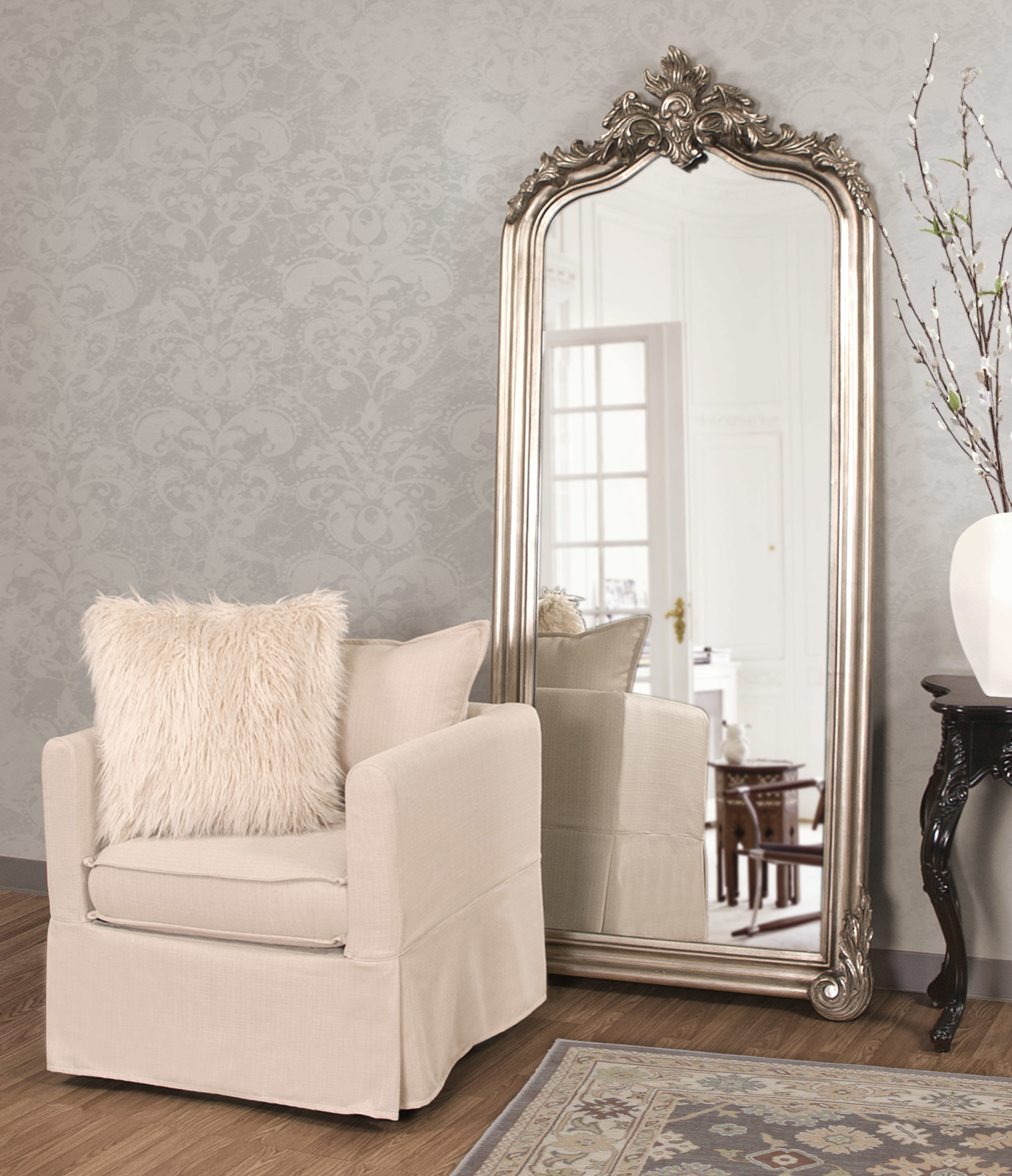 Leaf Wall Mirror | Wayfair Inside Carstens Sunburst Leaves Wall Mirrors (Image 8 of 20)