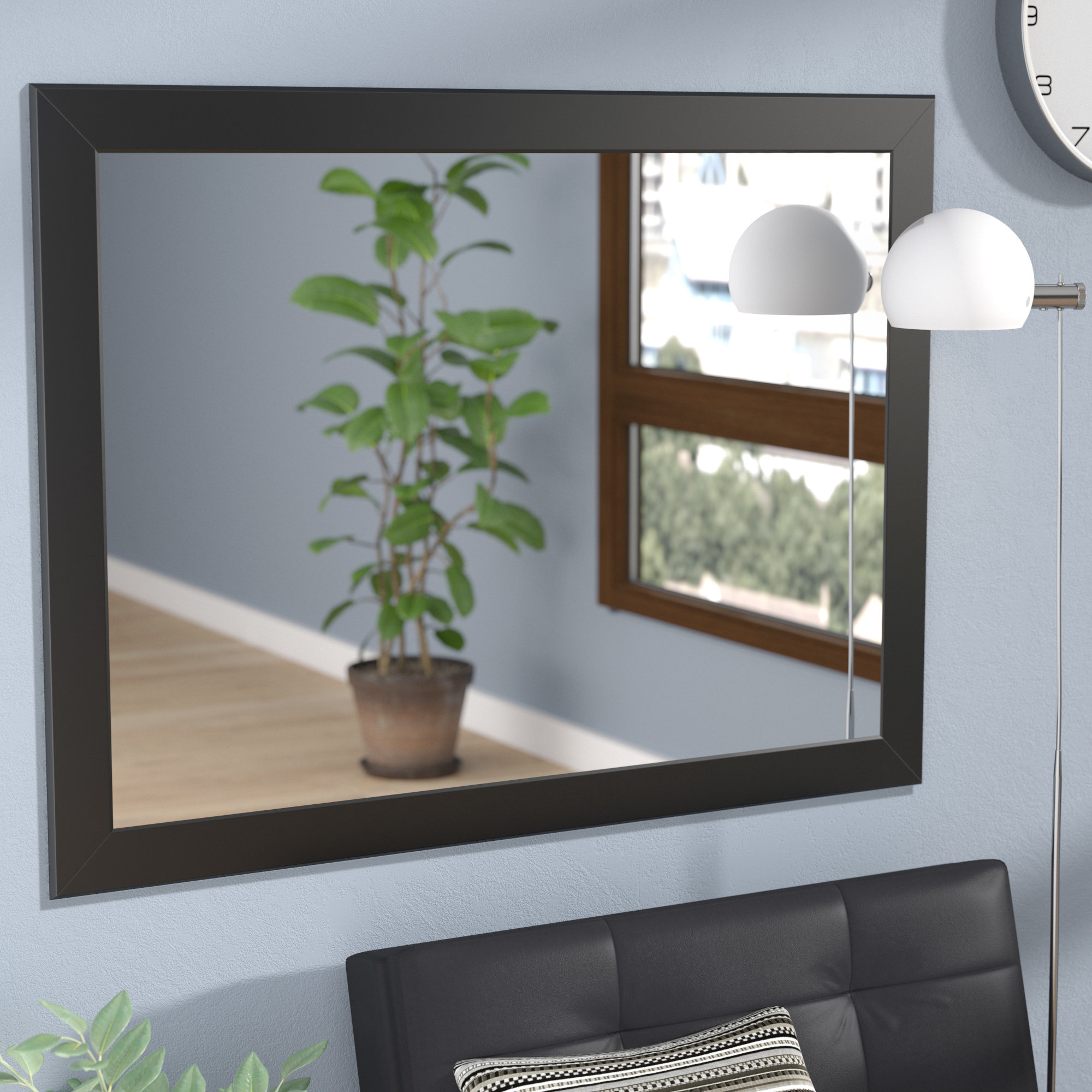 Leaf Wall Mirror | Wayfair Intended For Carstens Sunburst Leaves Wall Mirrors (Image 9 of 20)