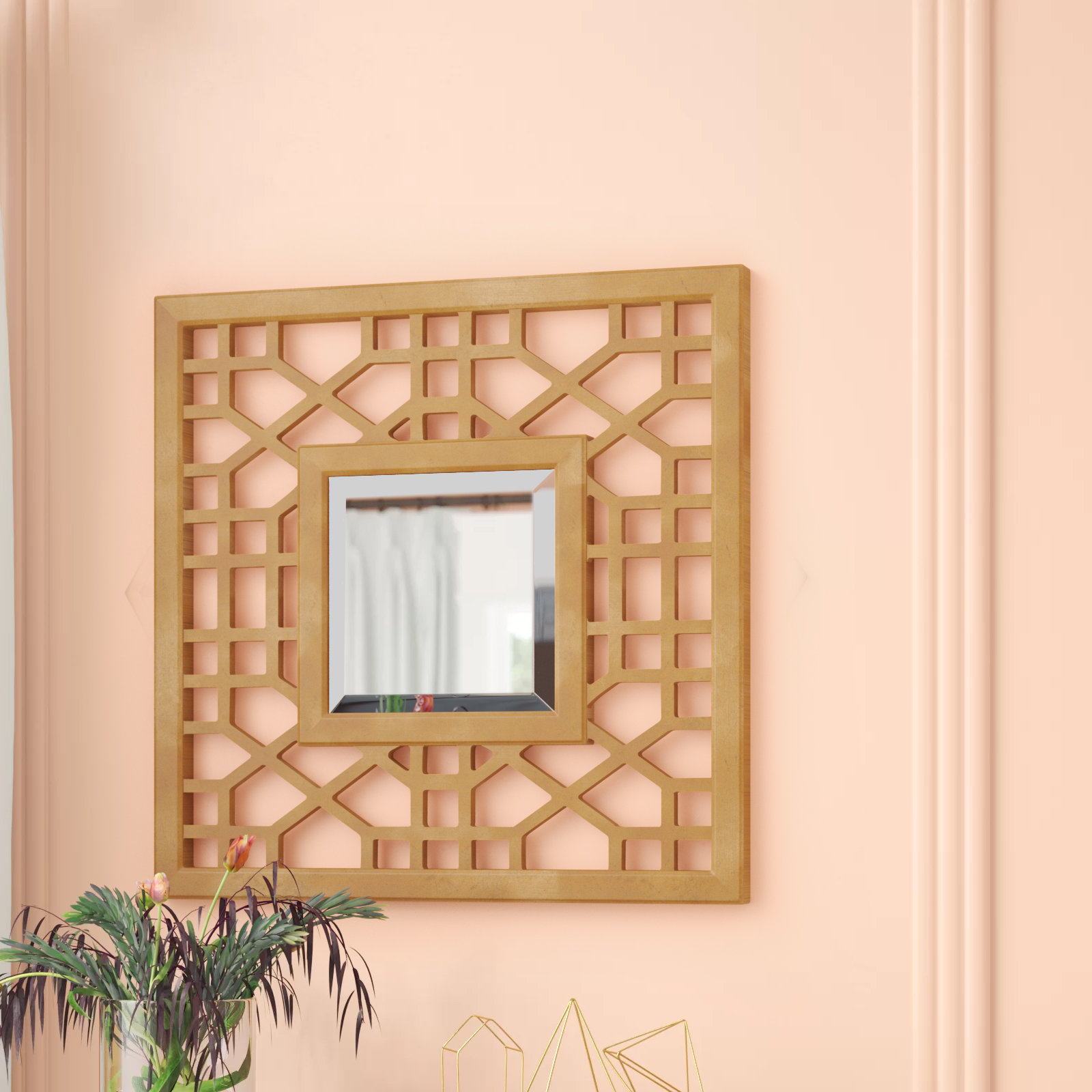Leaf Wall Mirror | Wayfair Regarding Carstens Sunburst Leaves Wall Mirrors (Image 11 of 20)