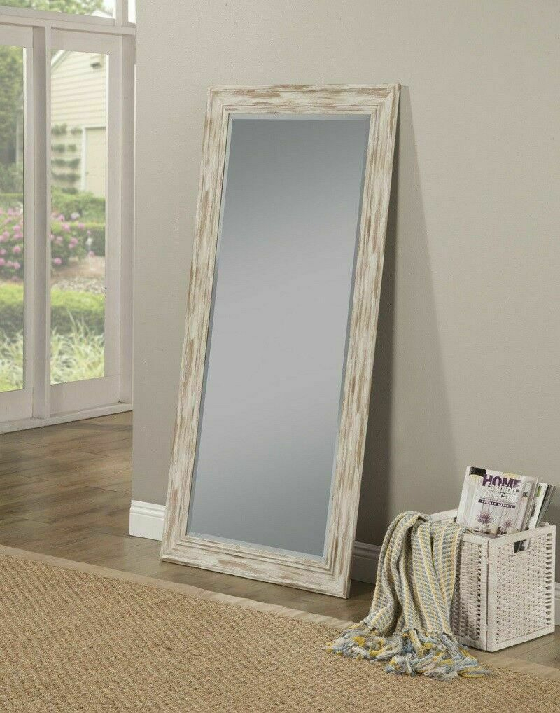 Leaning Mirror Farmhouse Leaner Shabby Chic Country Rustic Wall Mounted  Large In Leaning Mirrors (View 8 of 20)
