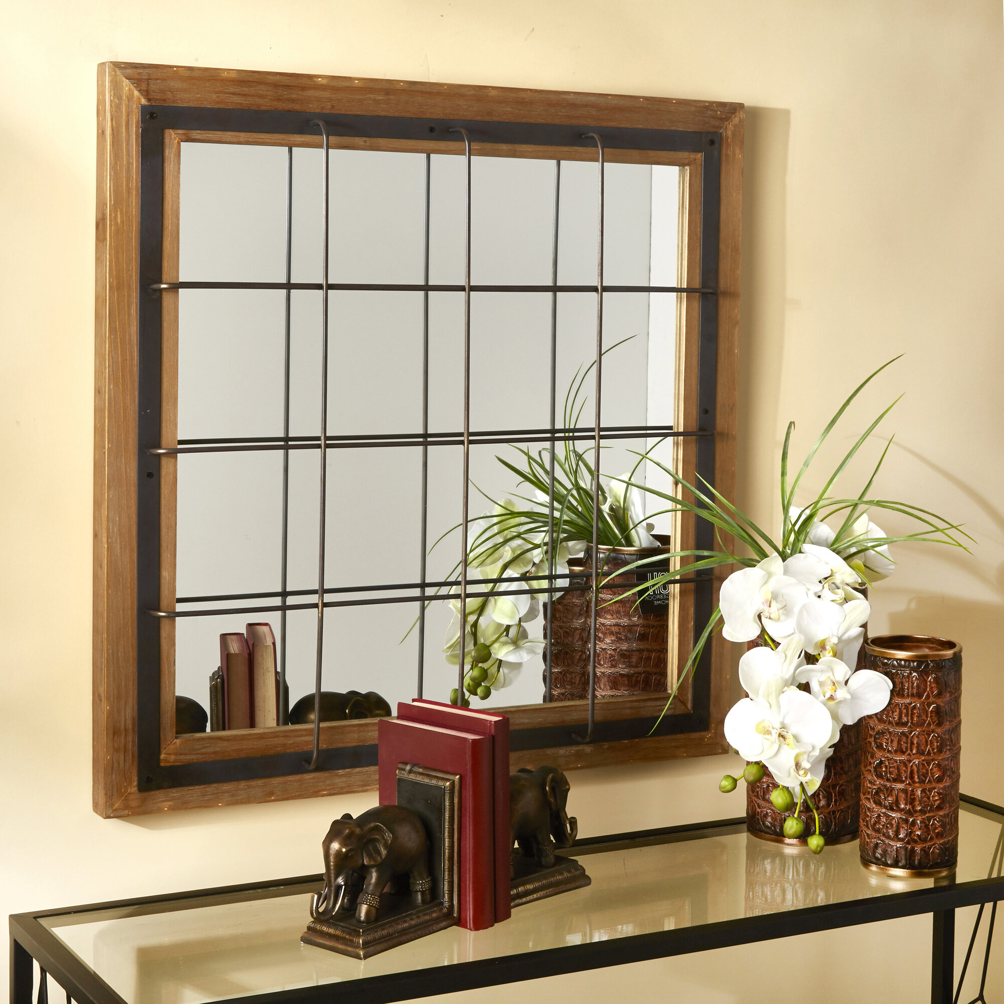 Leclair Windowpane Mirror With Polito Cottage/country Wall Mirrors (Image 9 of 20)