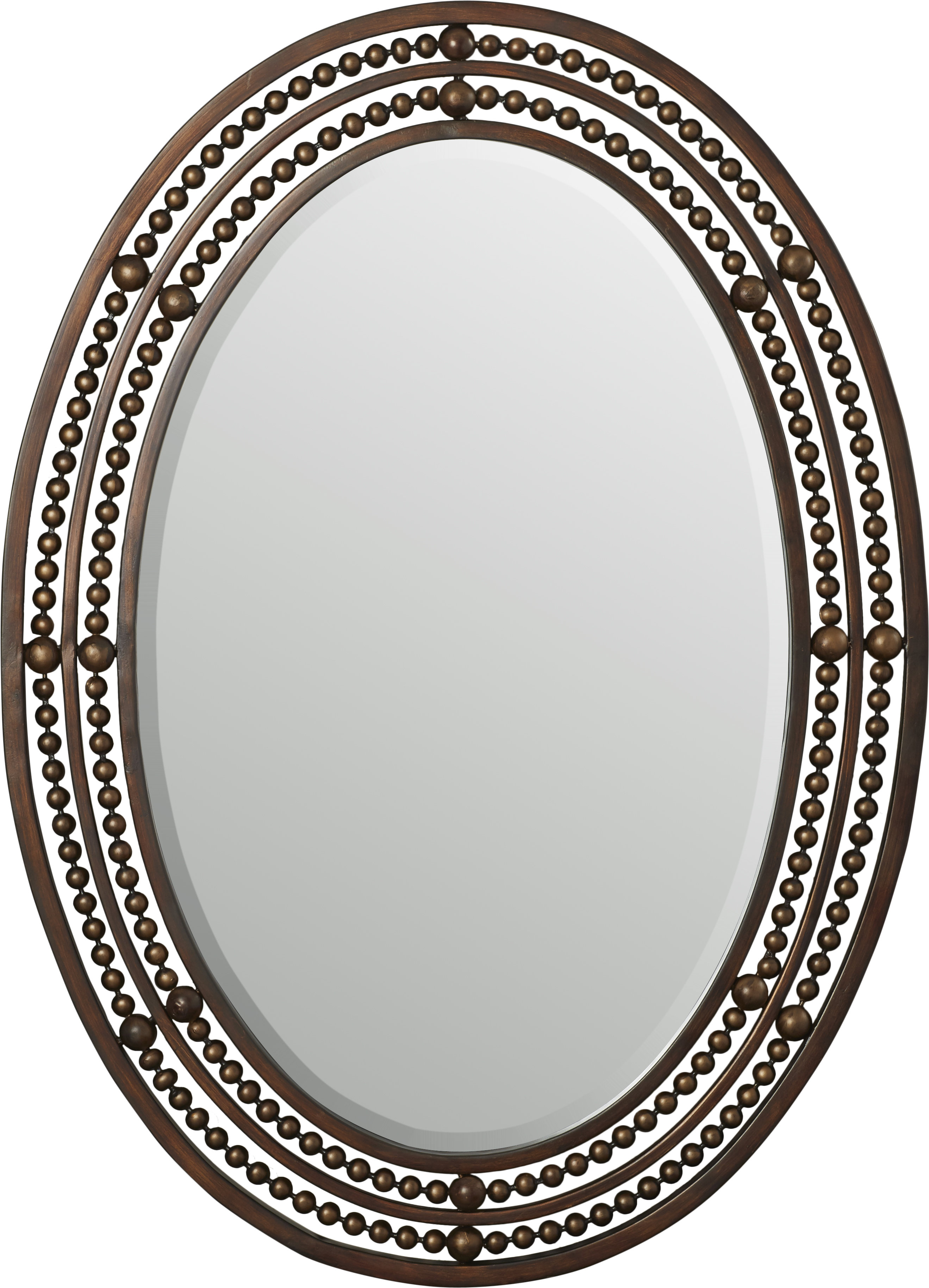 Leeper Oval Wall Mirror Pertaining To Burnes Oval Traditional Wall Mirrors (Image 8 of 20)