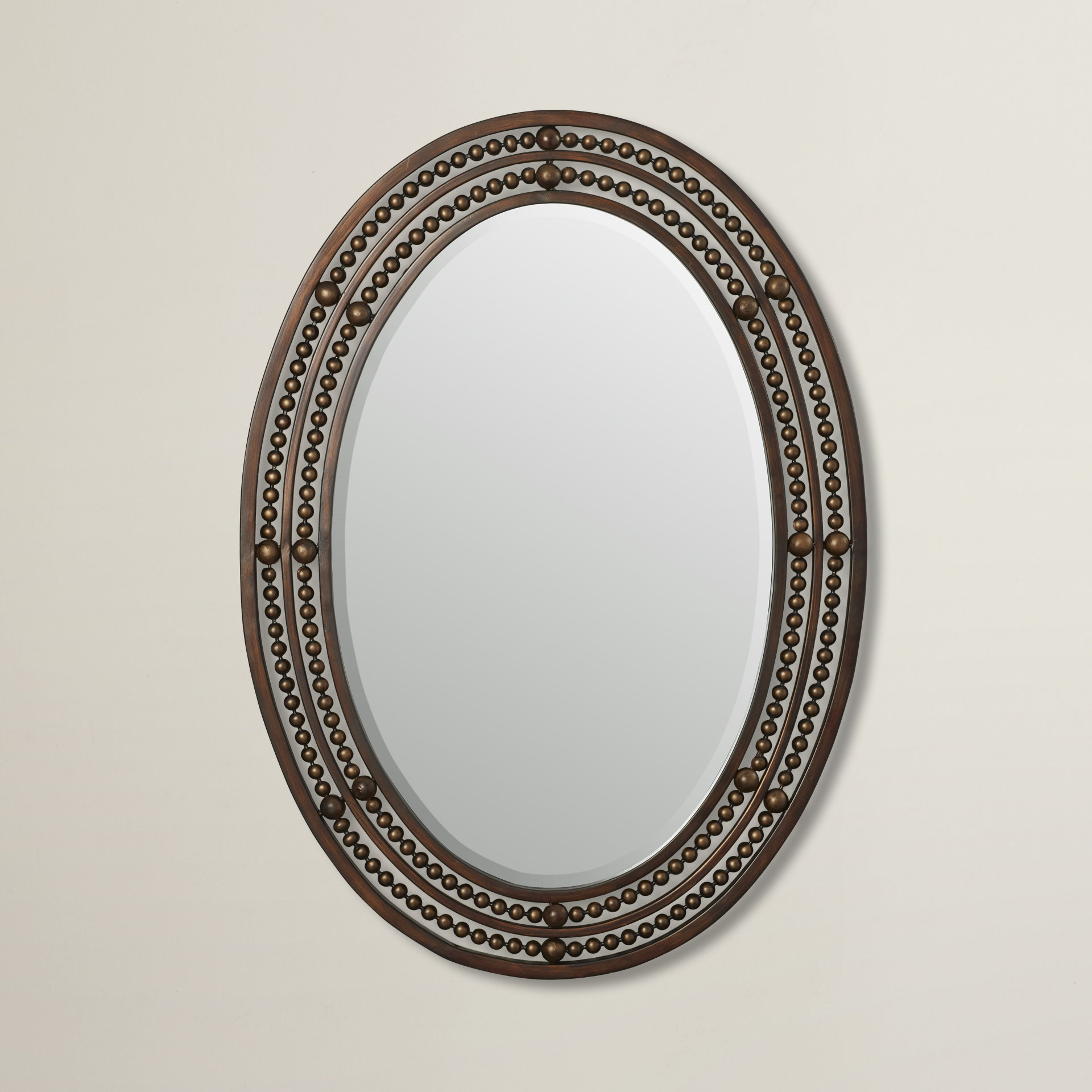 Leeper Oval Wall Mirror Pertaining To Pfister Oval Wood Wall Mirrors (Image 10 of 20)
