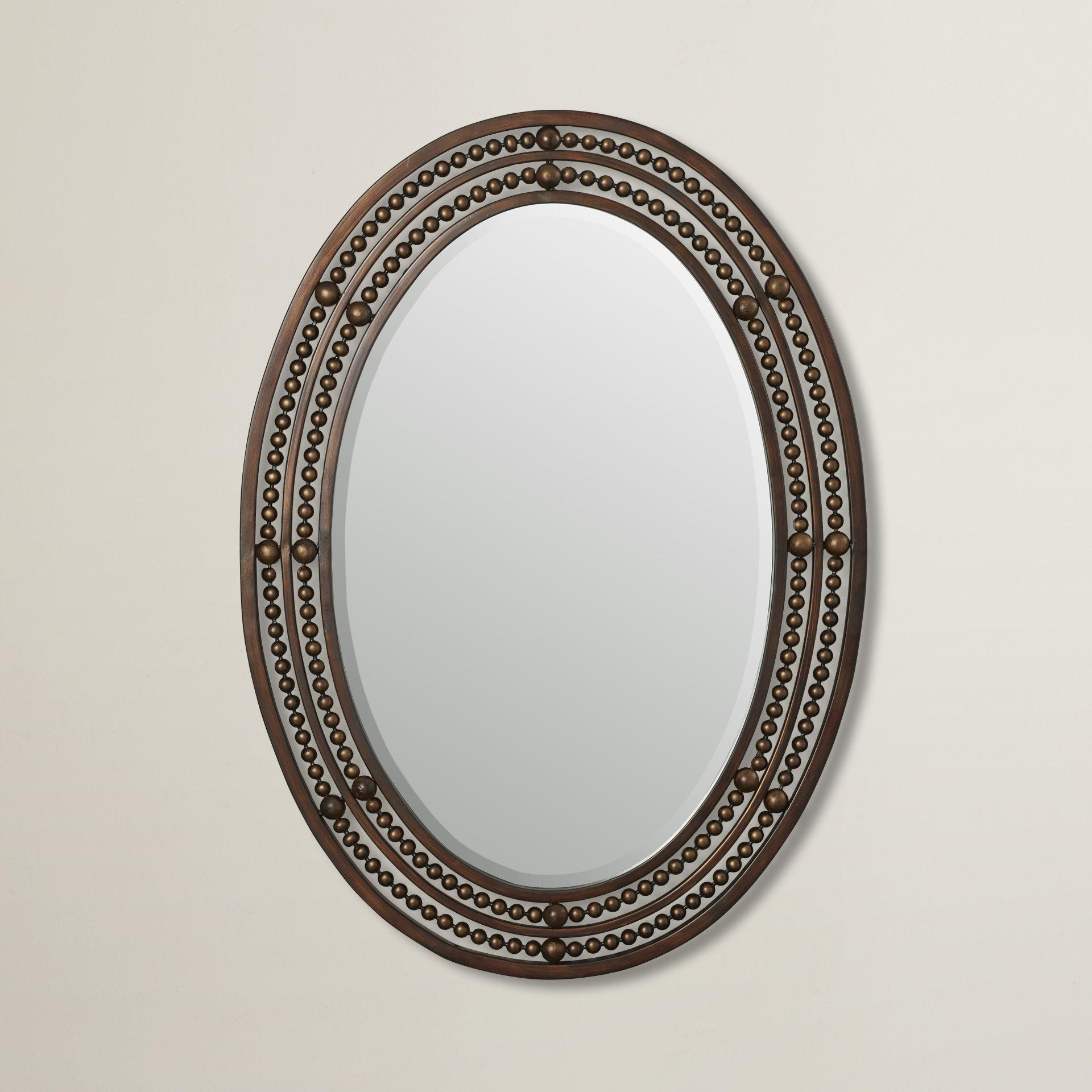 Leeper Oval Wall Mirror Regarding Burnes Oval Traditional Wall Mirrors (Image 9 of 20)