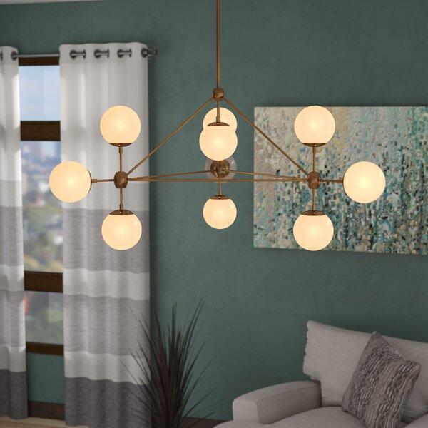 Lemay 10 Light Geometric Chandelierbrayden Studio In Ammerman 1 Light Cone Pendants (View 13 of 25)