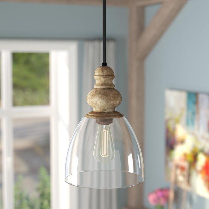 Lemelle 1 Light Single Bell Pendant | French Country Kitchen Throughout 1 Light Single Bell Pendants (Image 13 of 25)