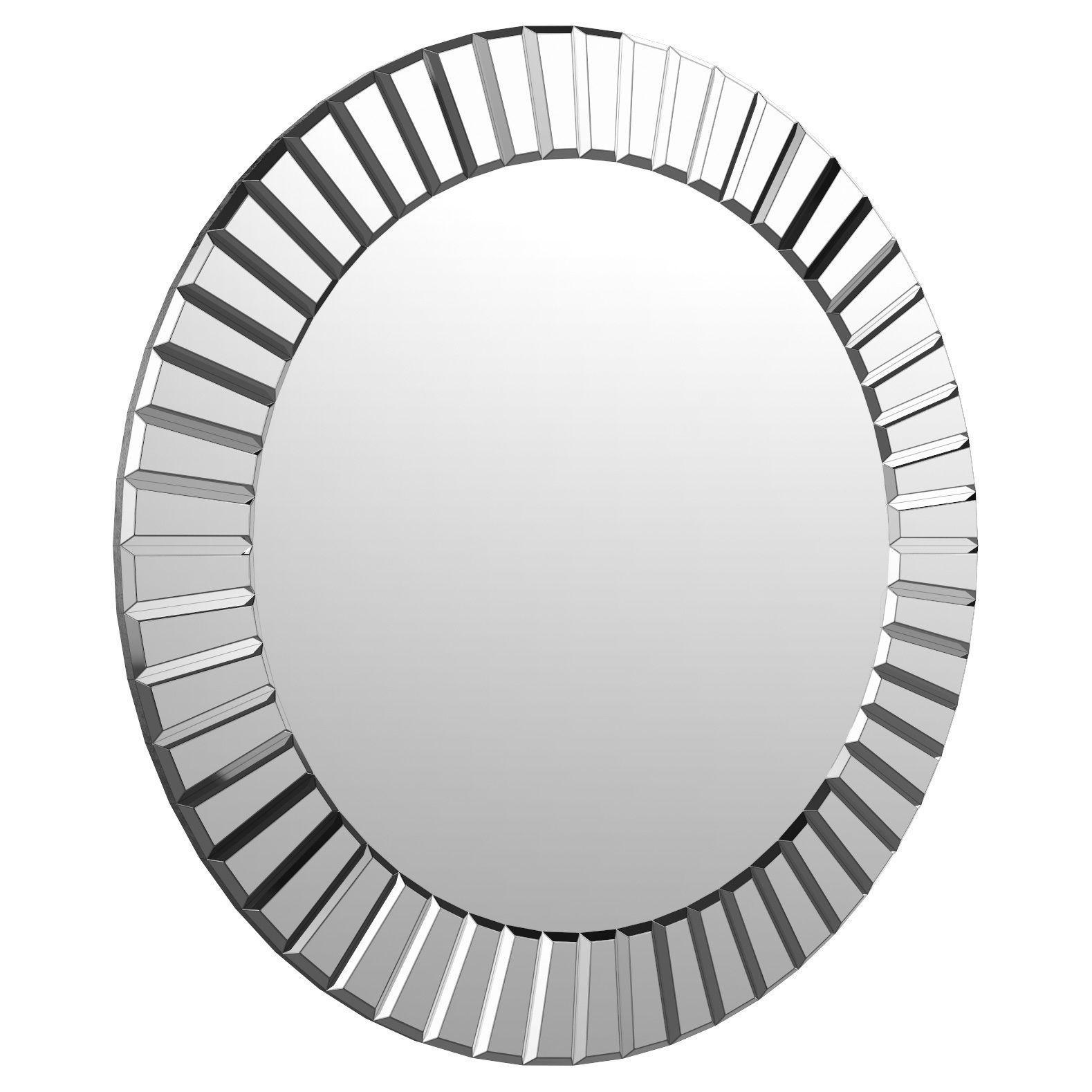 Lidya Frameless Beveled Wall Mirror Wlao2357 | 3D Model With Regard To Lidya Frameless Beveled Wall Mirrors (View 2 of 20)