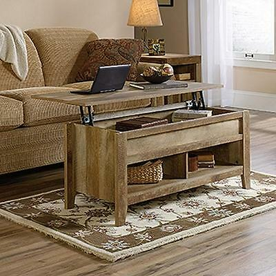 Lift Top Coffee Table Oak With Storage Rustic Weathered Wood Cocktail Furniture Pertaining To Furniture Of America Charlotte Weathered Oak Glass Top Coffee Tables (View 22 of 50)