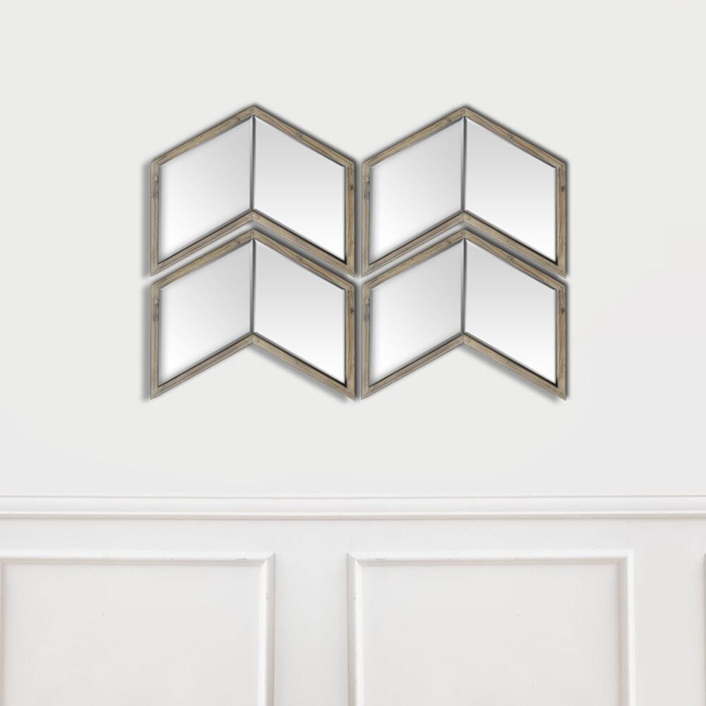 Light Walnut Wood Wall Mirror Within Walnut Wood Wall Mirrors (View 10 of 20)
