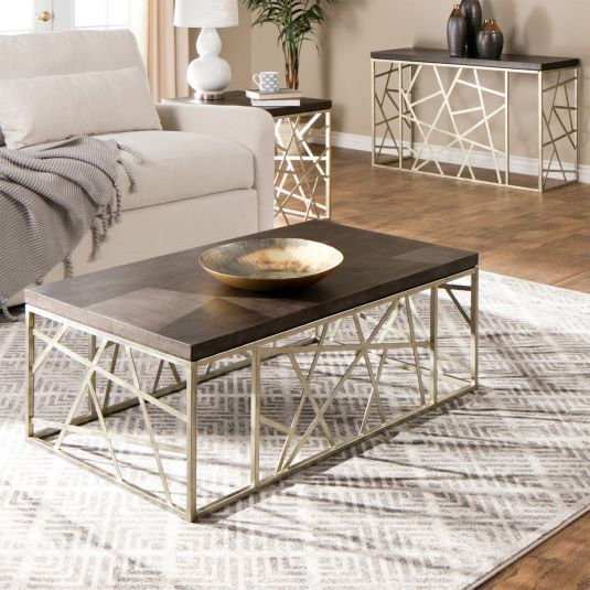 Like Its Big Apple Namesake, Tribeca Accent Tables Are The For Tribeca Contemporary Distressed Silver And Smoke Grey Coffee Tables (View 3 of 25)