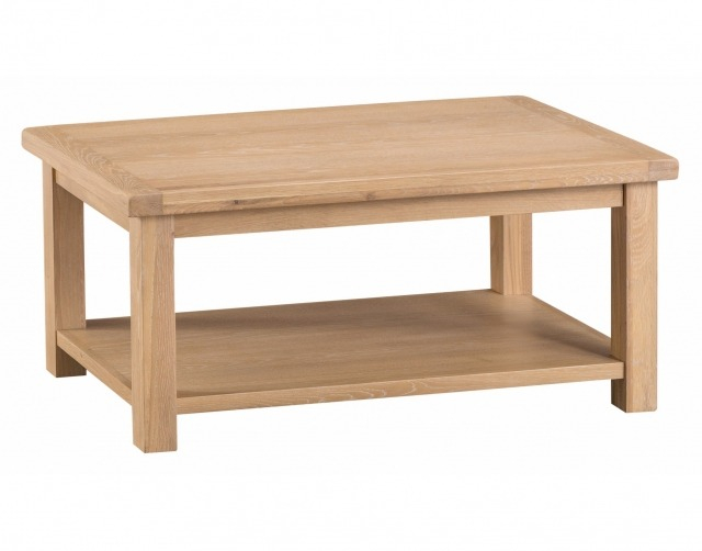 Lime Wash Rustic Oak Coffee Table Intended For Rustic Oak Coffee Tables (Image 9 of 25)
