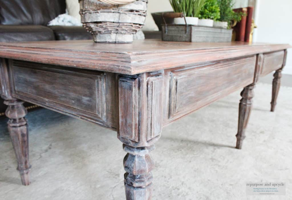 Lime Washed Coffee Table Makeover With Liming Wax For Handmade Whitewashed Stripped Wood Tables (Image 14 of 25)