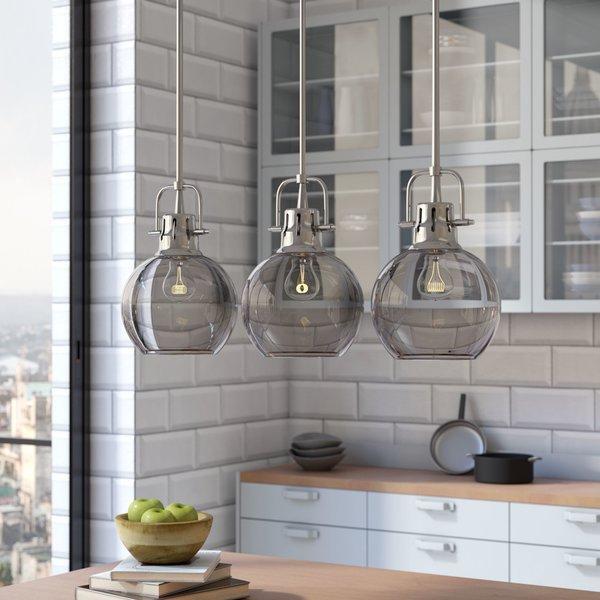 Linear Kitchen Lighting | Wayfair Intended For Euclid 2 Light Kitchen Island Linear Pendants (Image 23 of 25)