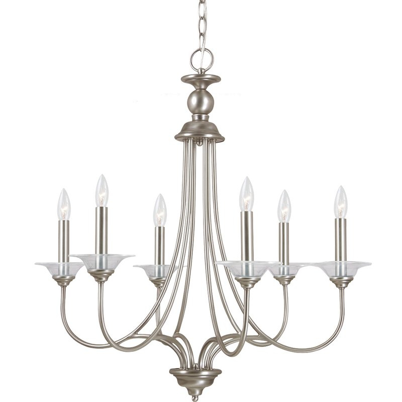 Locklin 6 Light Candle Style Chandelier Intended For Diaz 6 Light Candle Style Chandeliers (Image 18 of 20)