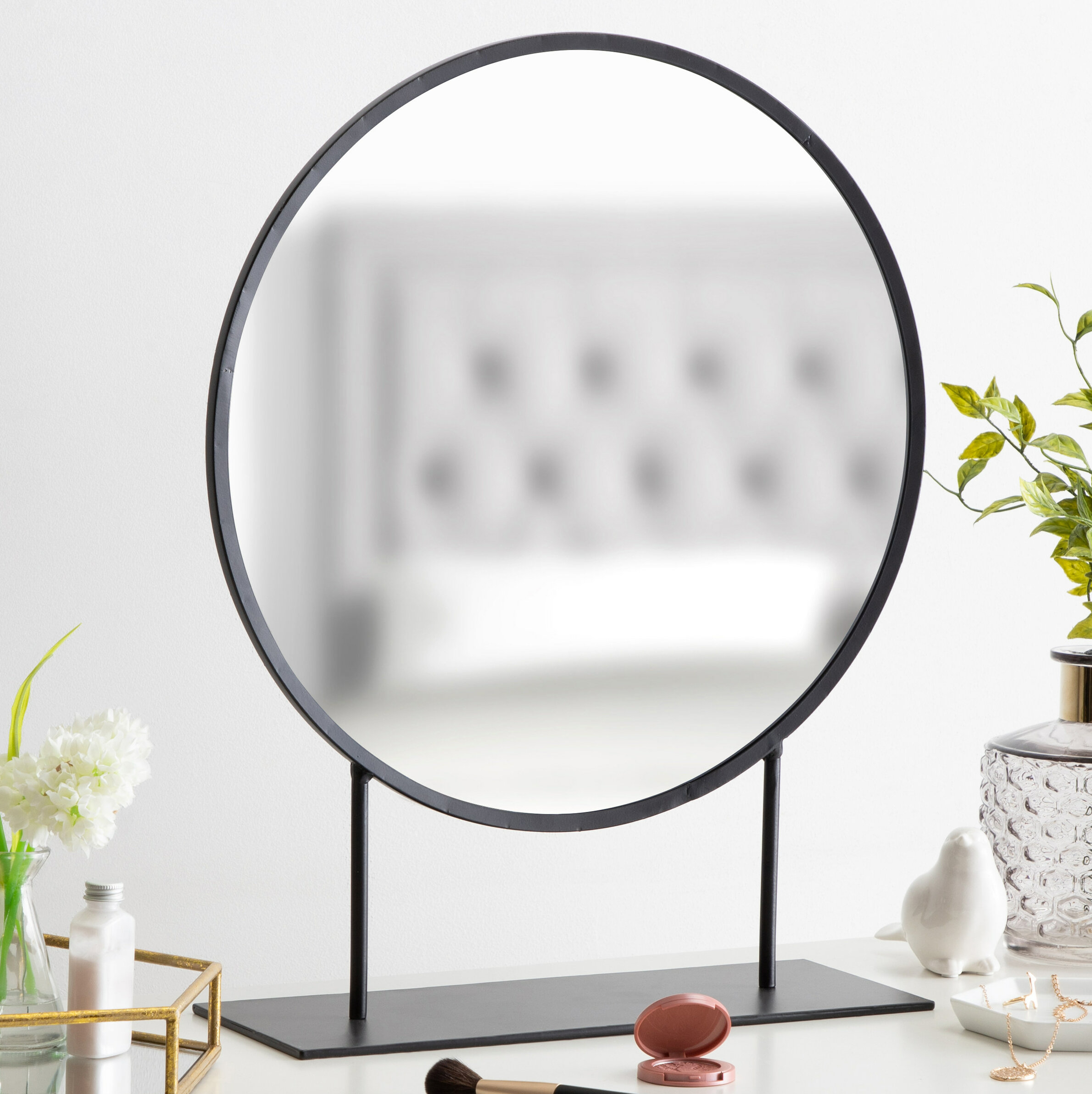 Loftin Modern Glam Round Beveled Accent Mirror Intended For Arrigo Accent Mirrors (View 11 of 20)
