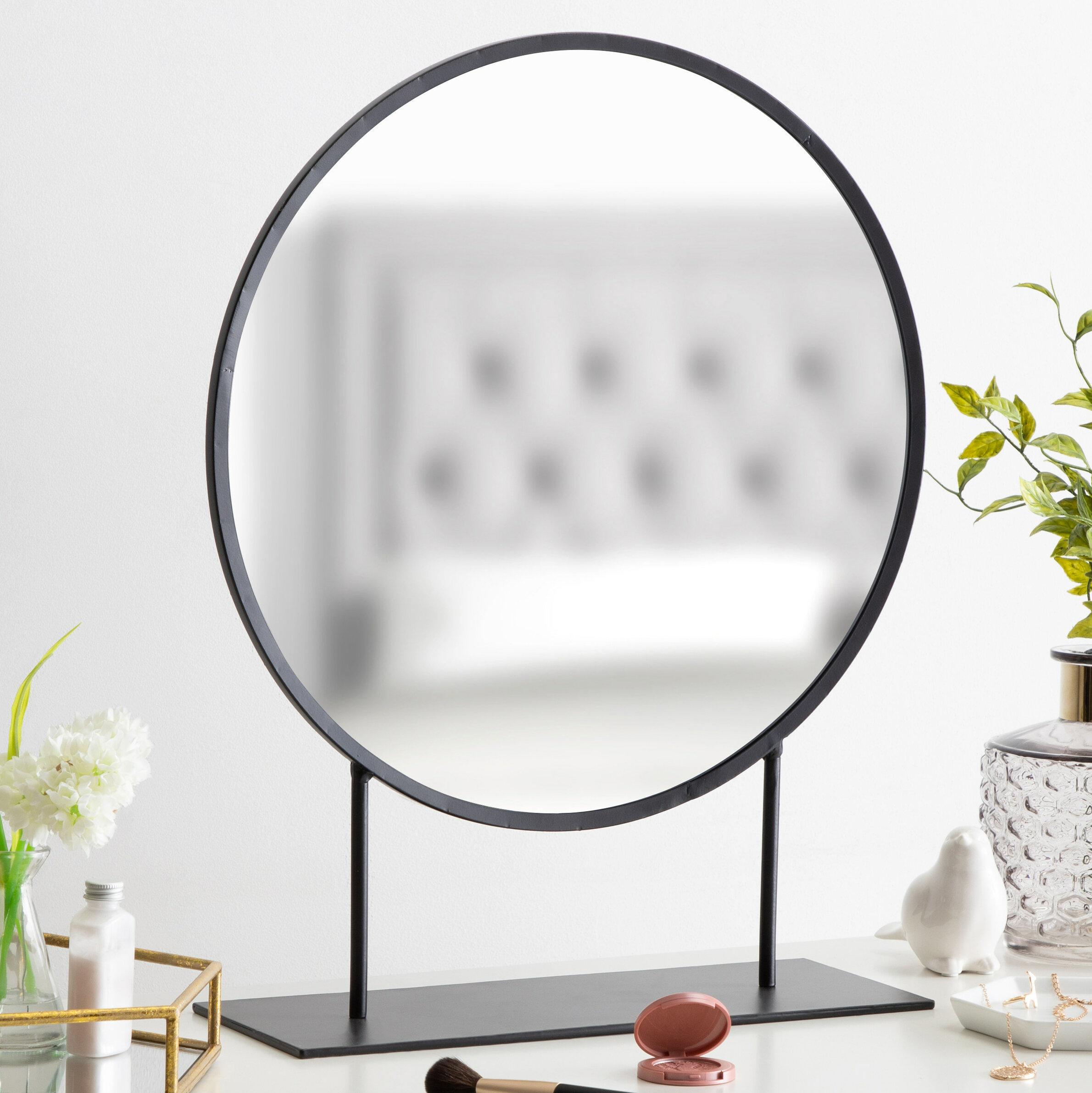 Loftin Modern Glam Round Beveled Accent Mirror With Regard To Glam Beveled Accent Mirrors (Image 17 of 20)