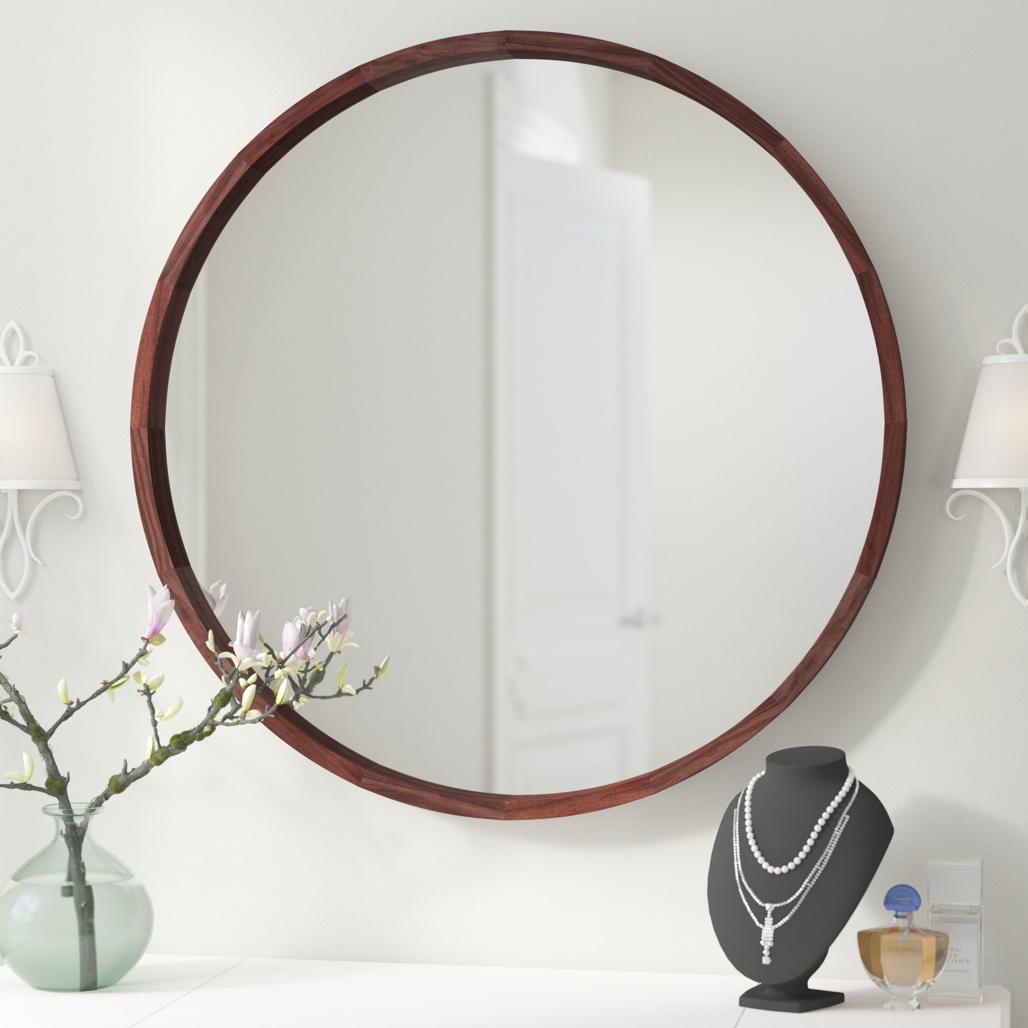 Loftis Modern & Contemporary Accent Wall Mirror & Reviews Intended For Oval Metallic Accent Mirrors (Image 12 of 20)