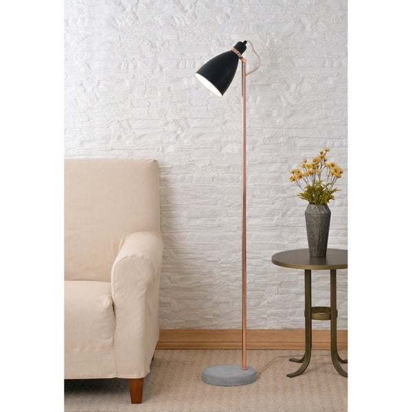 """Lola Black And Copper 59"""" Floor Lamp Pertaining To Tiana 4 Light Geometric Chandeliers (View 17 of 25)"""