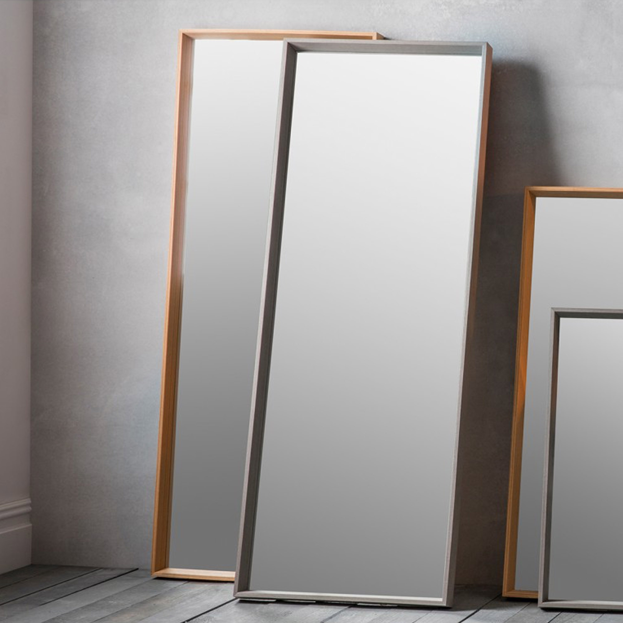 Long Oak Comet Wall Mirror Intended For Wall Mirrors (Image 14 of 20)