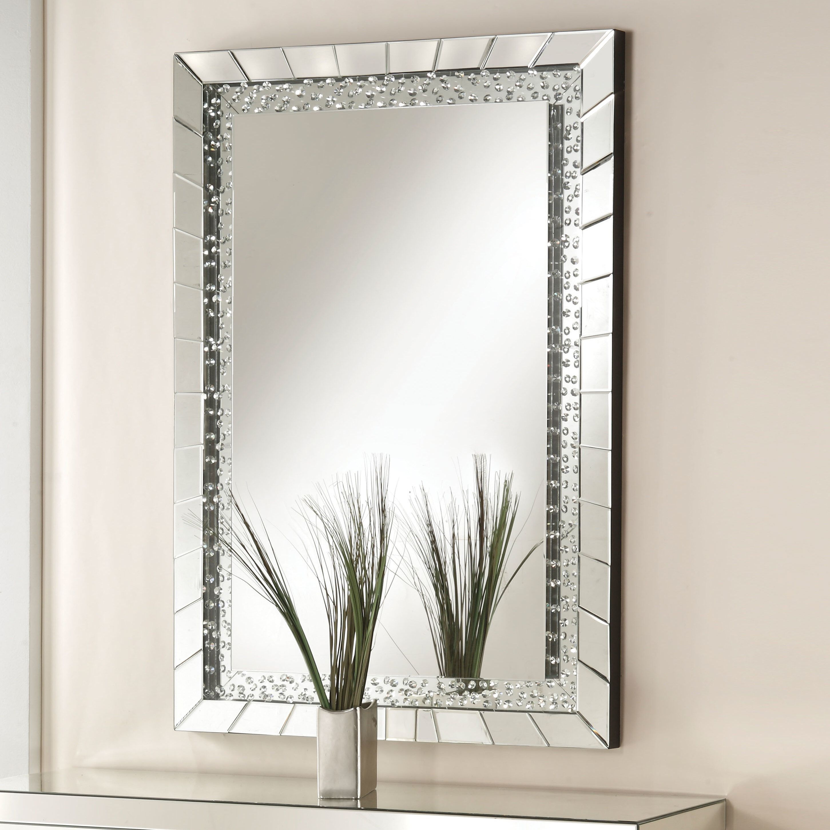 Longo Accent Mirror | Home Decor | Mirror, Decor, Accent Decor Regarding Lake Park Beveled Beaded Accent Wall Mirrors (View 6 of 20)