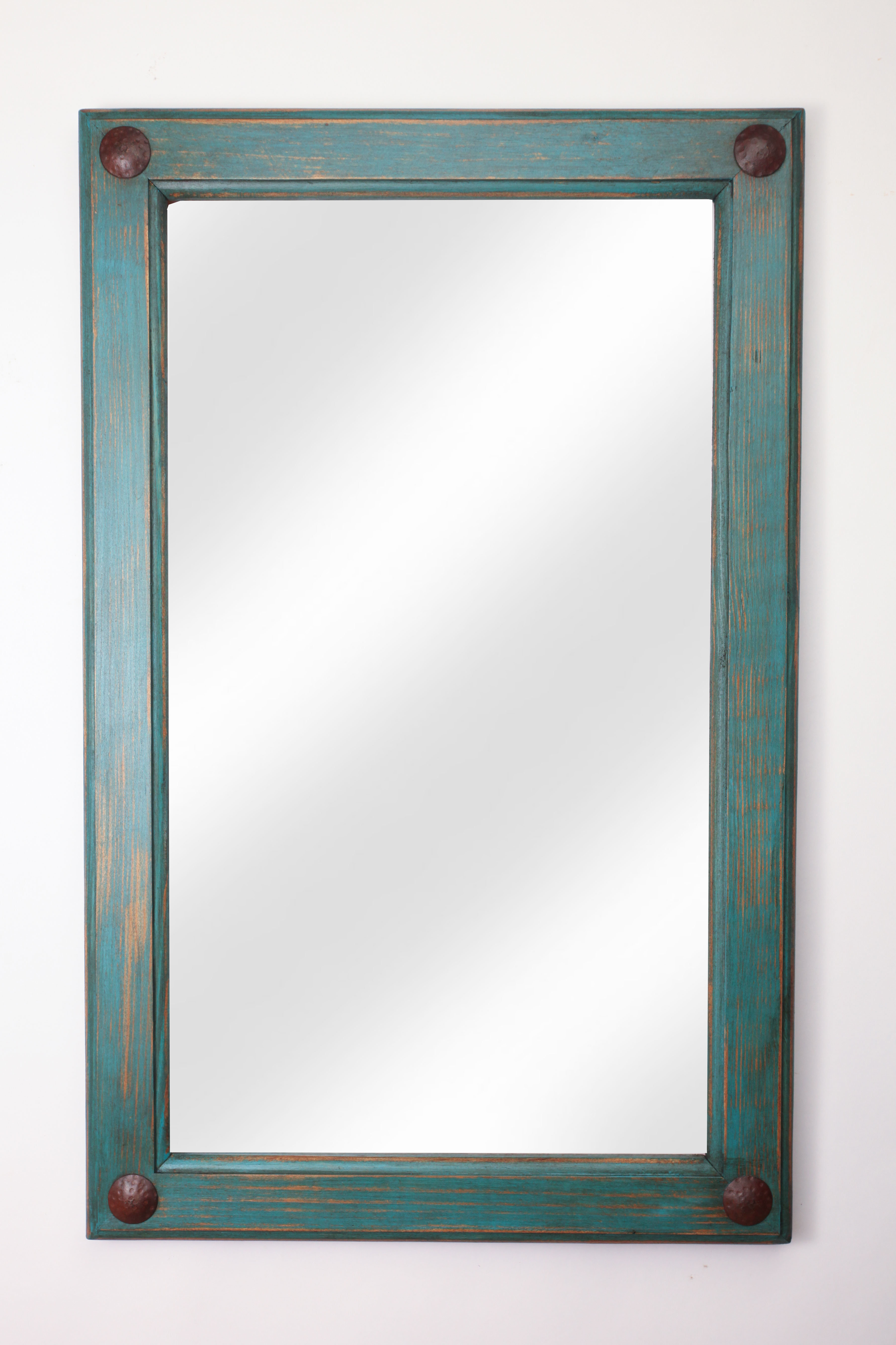 Loon Peak Febus Creek Rustic Distressed Accent Mirror Throughout Alie Traditional Beveled Distressed Accent Mirrors (Image 15 of 20)