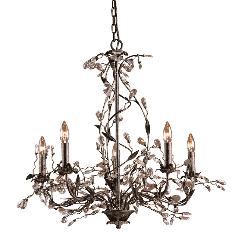 Lorraine 5 Light Chandelier Within Hesse 5 Light Candle Style Chandeliers (Image 18 of 20)