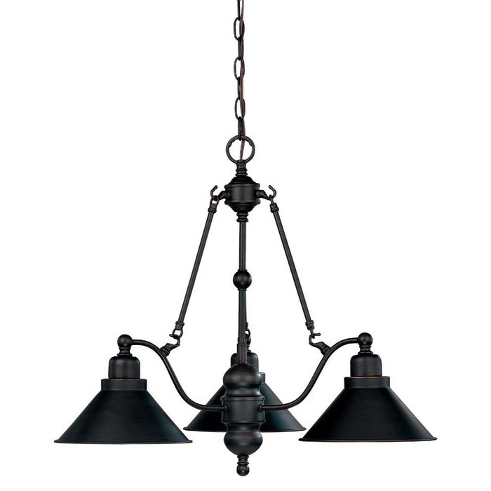 Losada 3 Light Shaded Chandelier With Regard To Alayna 4 Light Shaded Chandeliers (Image 10 of 20)