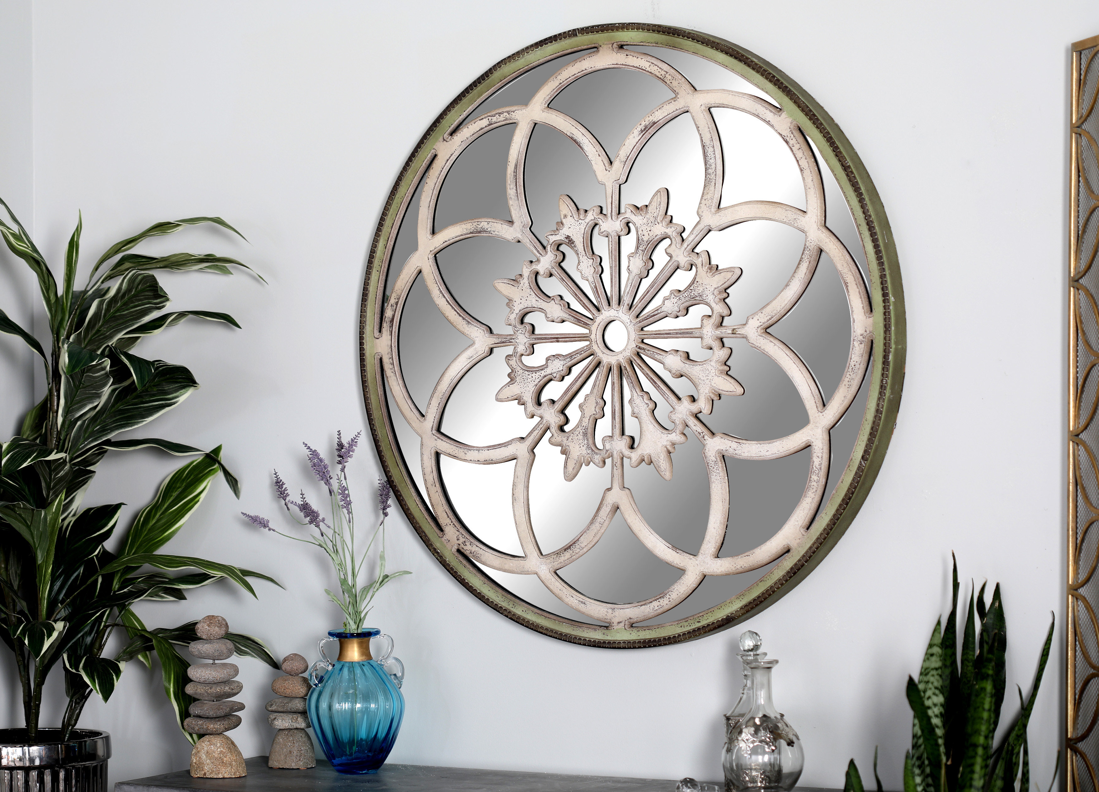 Lotus Flower Mirror | Wayfair Pertaining To Bruckdale Decorative Flower Accent Mirrors (View 18 of 20)