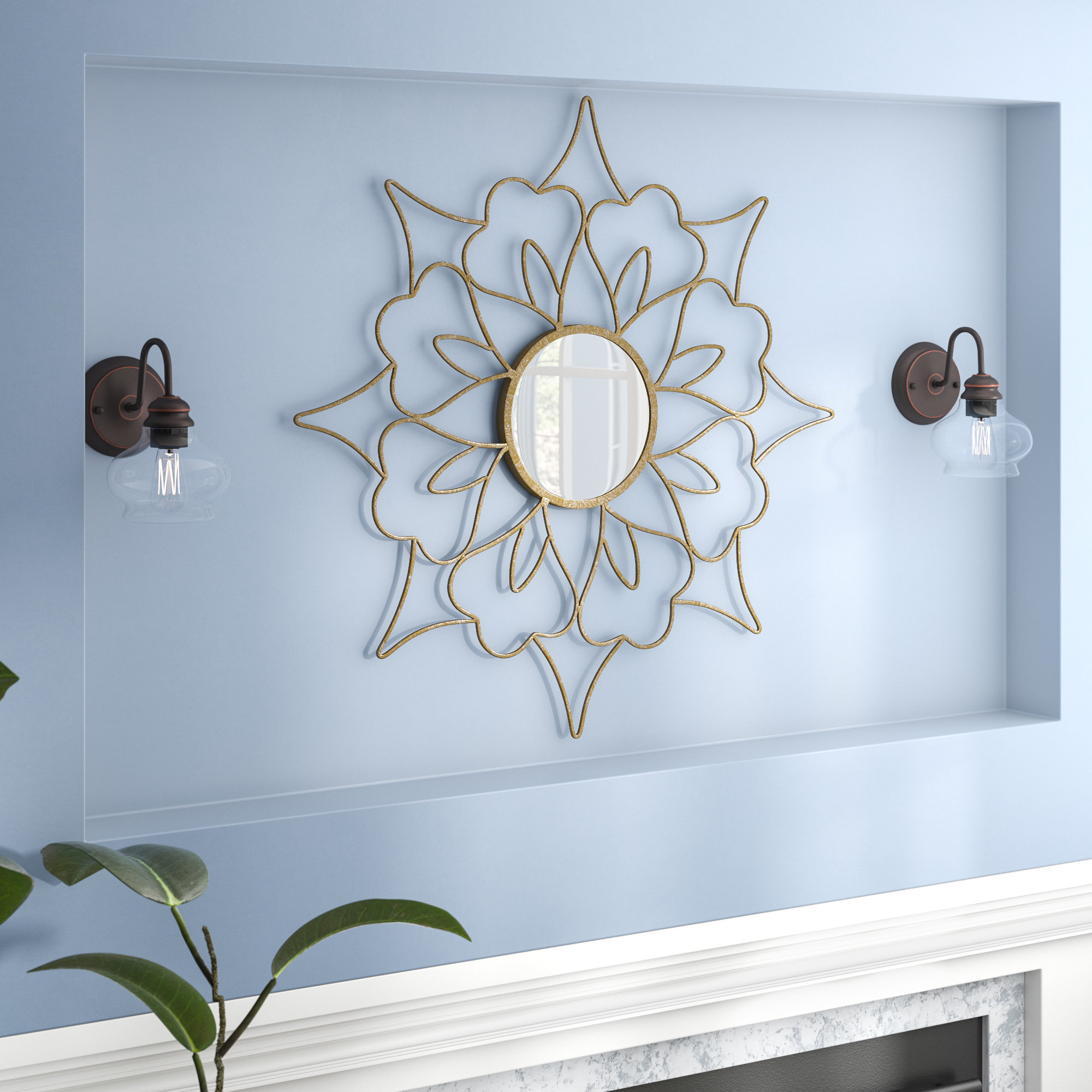 Lotus Mirror | Wayfair For Bruckdale Decorative Flower Accent Mirrors (View 12 of 20)