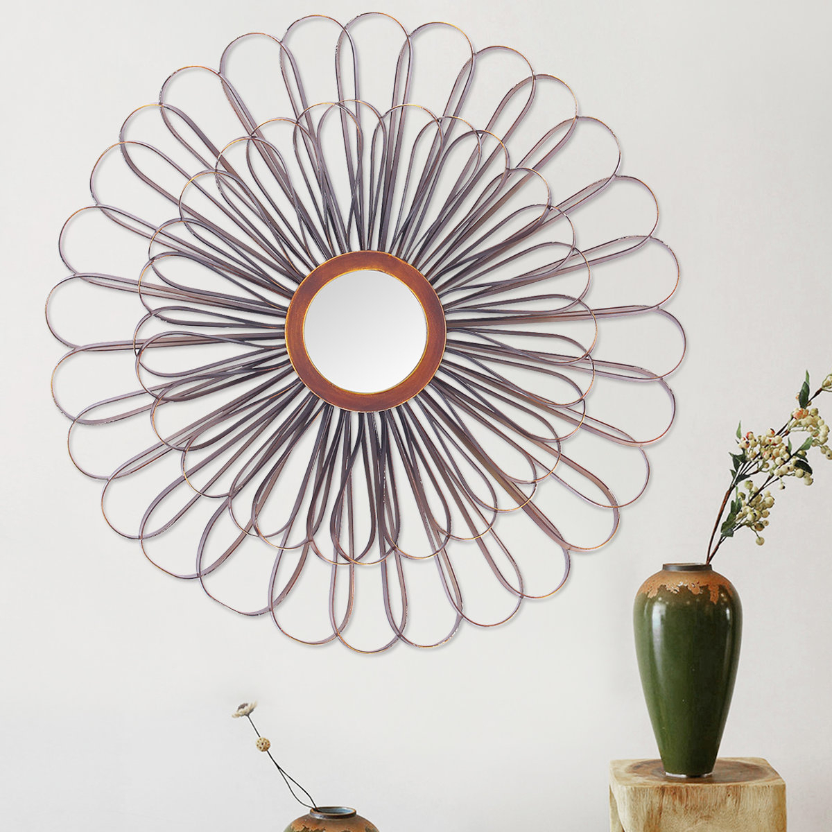 Lotus Mirror | Wayfair Throughout Bruckdale Decorative Flower Accent Mirrors (View 7 of 20)
